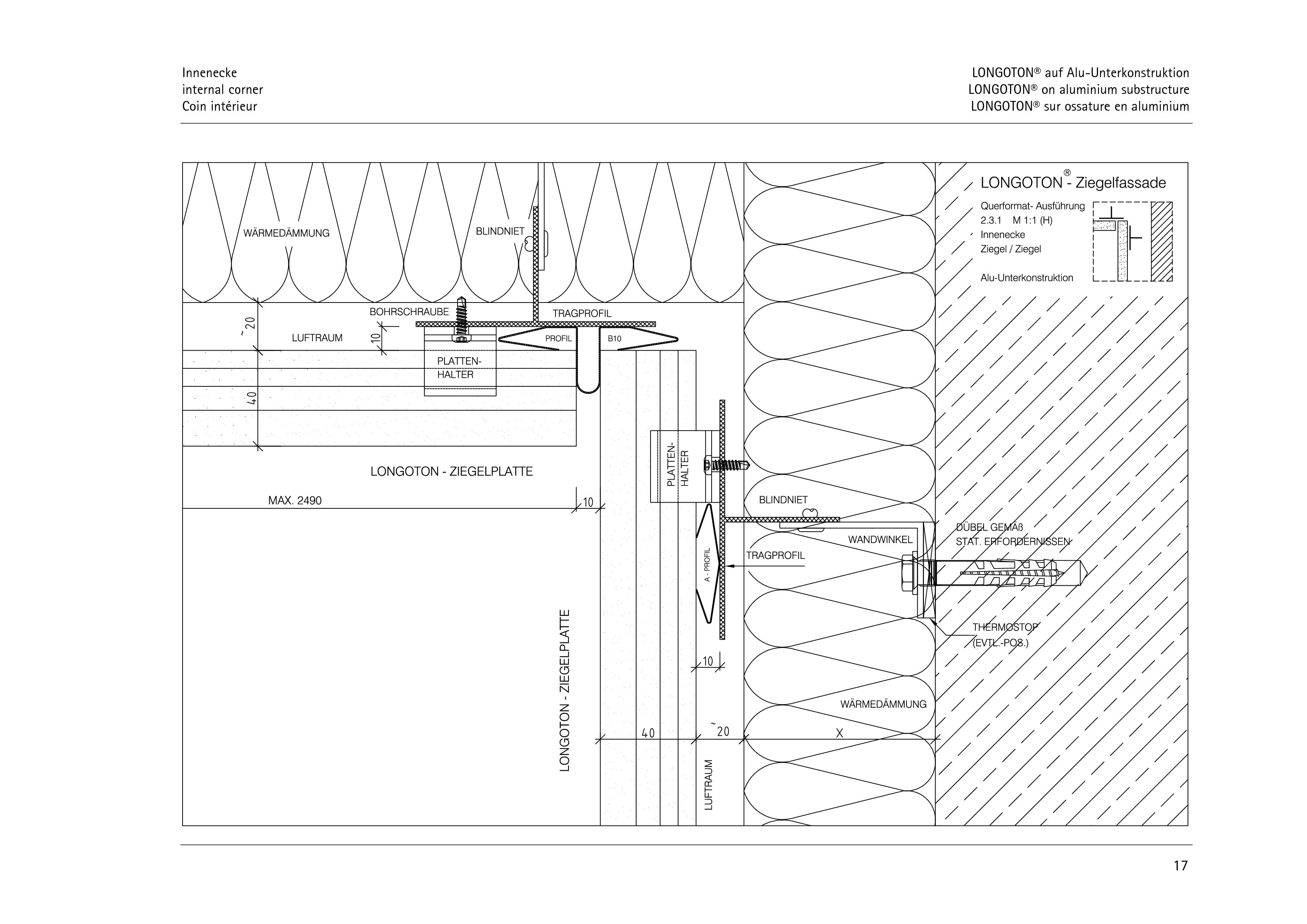 Pagina 17 - CAD-PDF Sisteme de placaje ceramice pentru fatada  ALPHATON Detaliu de montaj LONGOTON