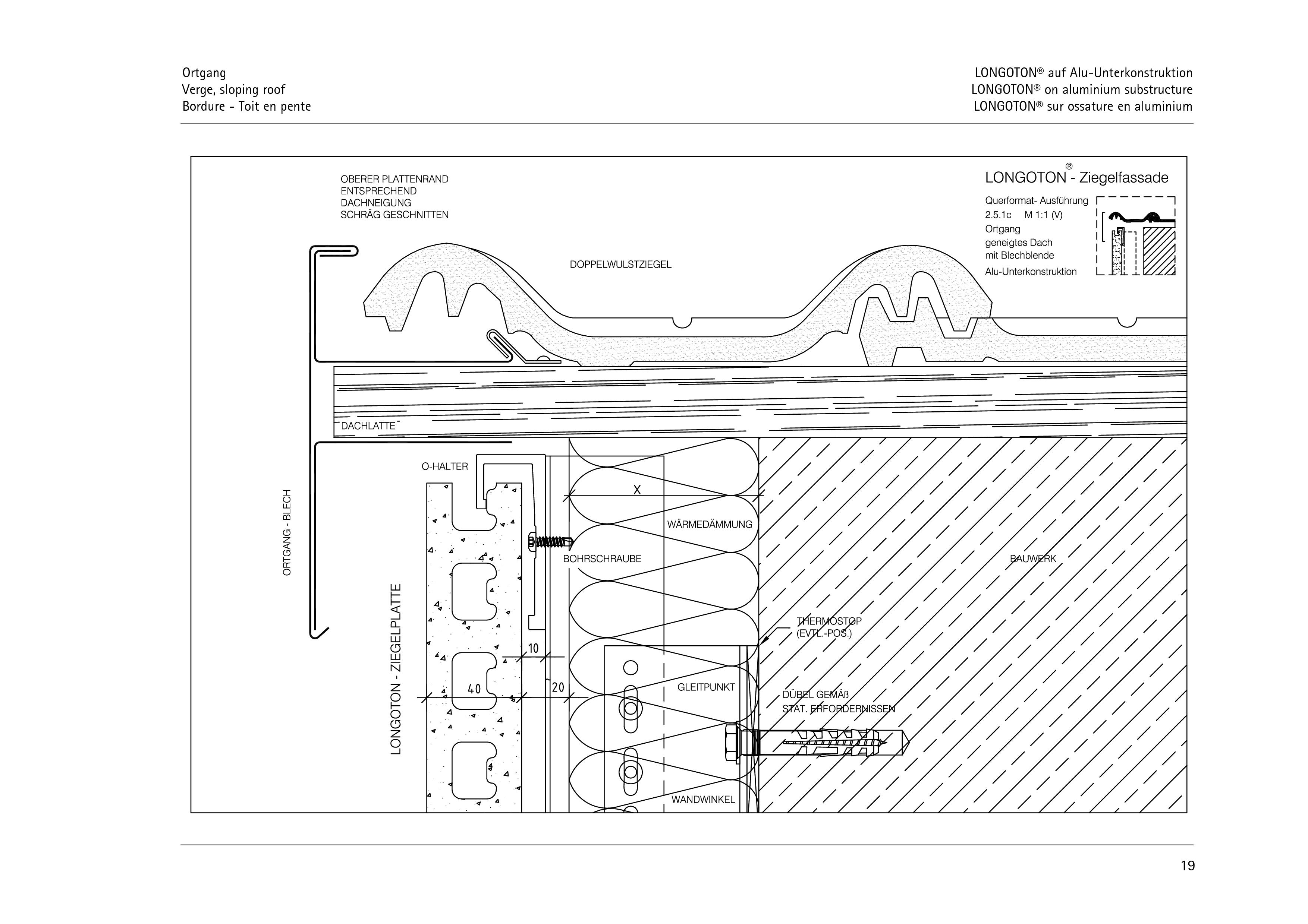 Pagina 19 - CAD-PDF Sisteme de placaje ceramice pentru fatada  ALPHATON Detaliu de montaj LONGOTON