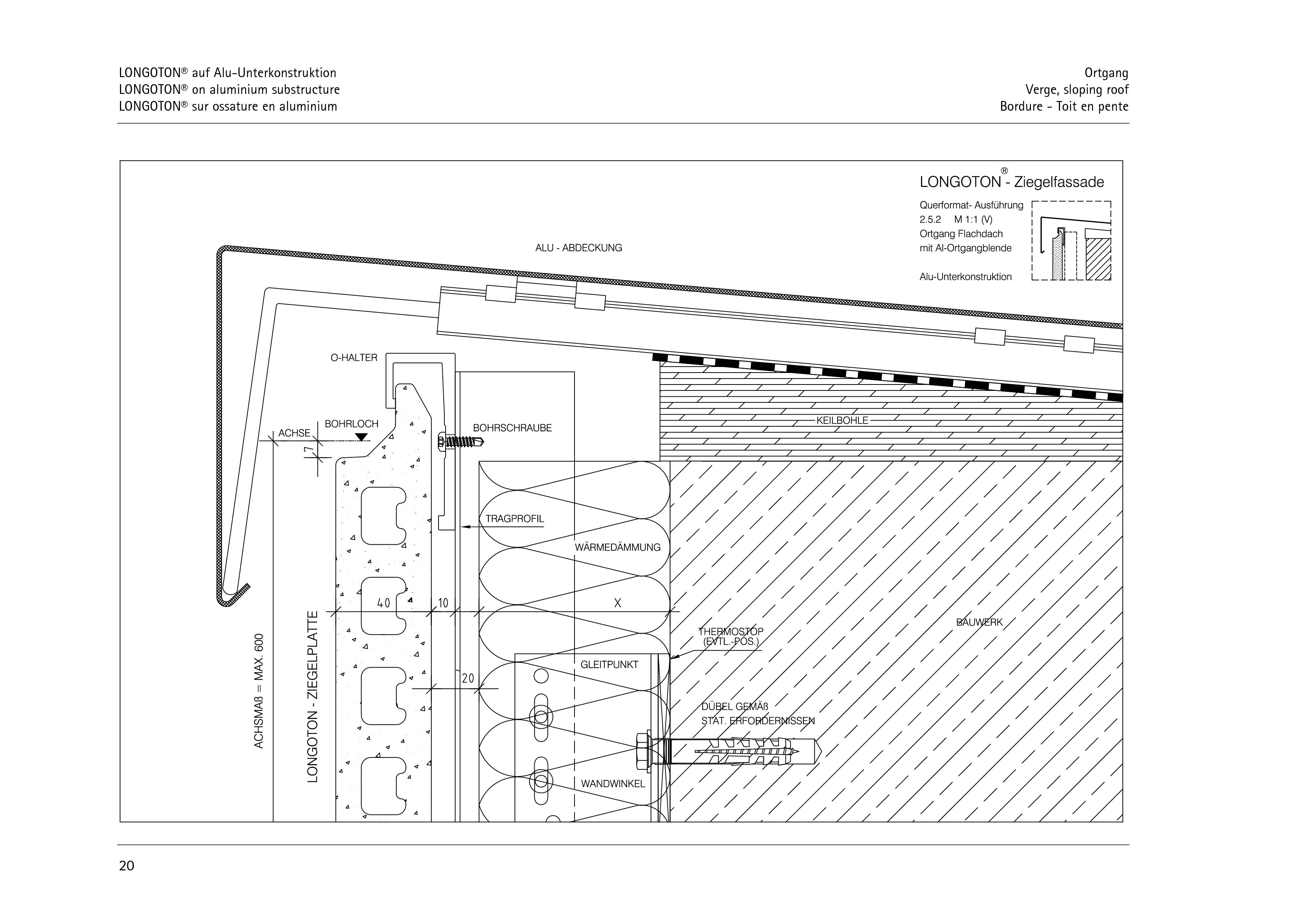 Pagina 20 - CAD-PDF Sisteme de placaje ceramice pentru fatada  ALPHATON Detaliu de montaj LONGOTON