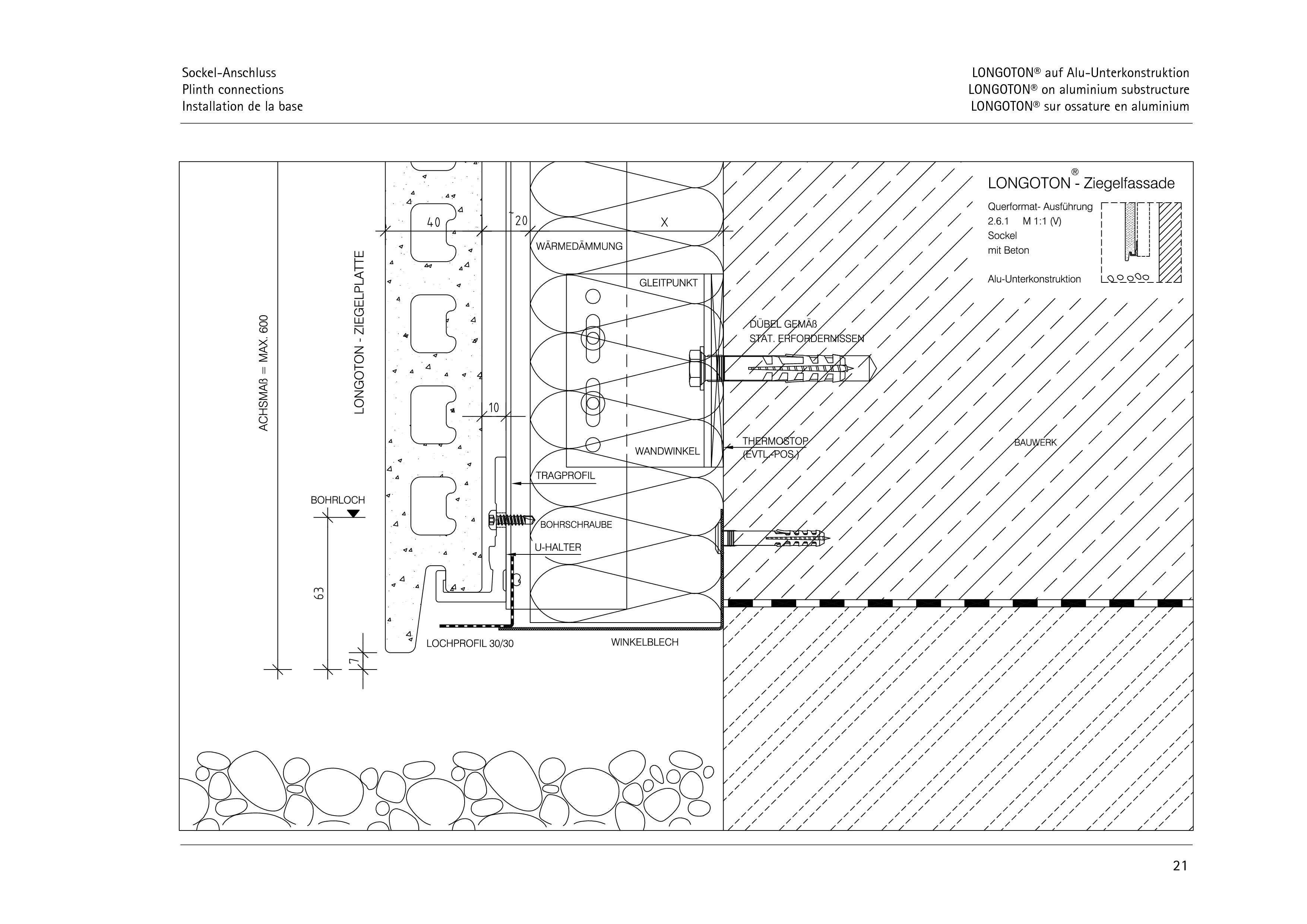Pagina 21 - CAD-PDF Sisteme de placaje ceramice pentru fatada  ALPHATON Detaliu de montaj LONGOTON