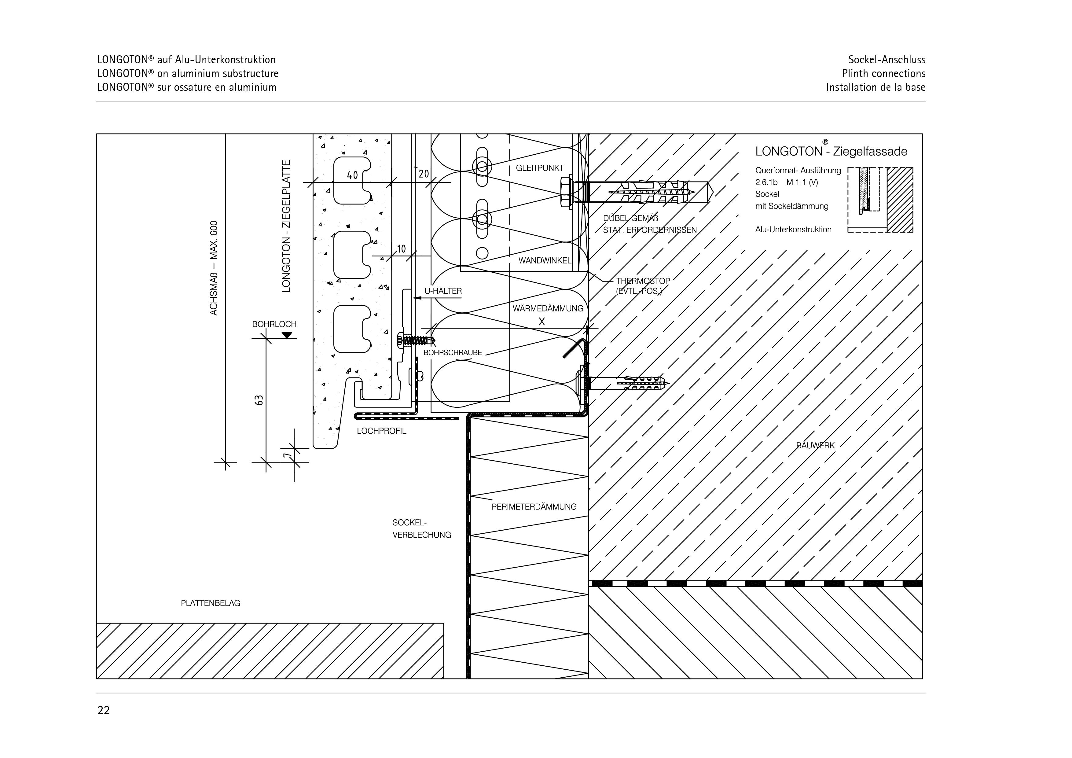 Pagina 22 - CAD-PDF Sisteme de placaje ceramice pentru fatada  ALPHATON Detaliu de montaj LONGOTON