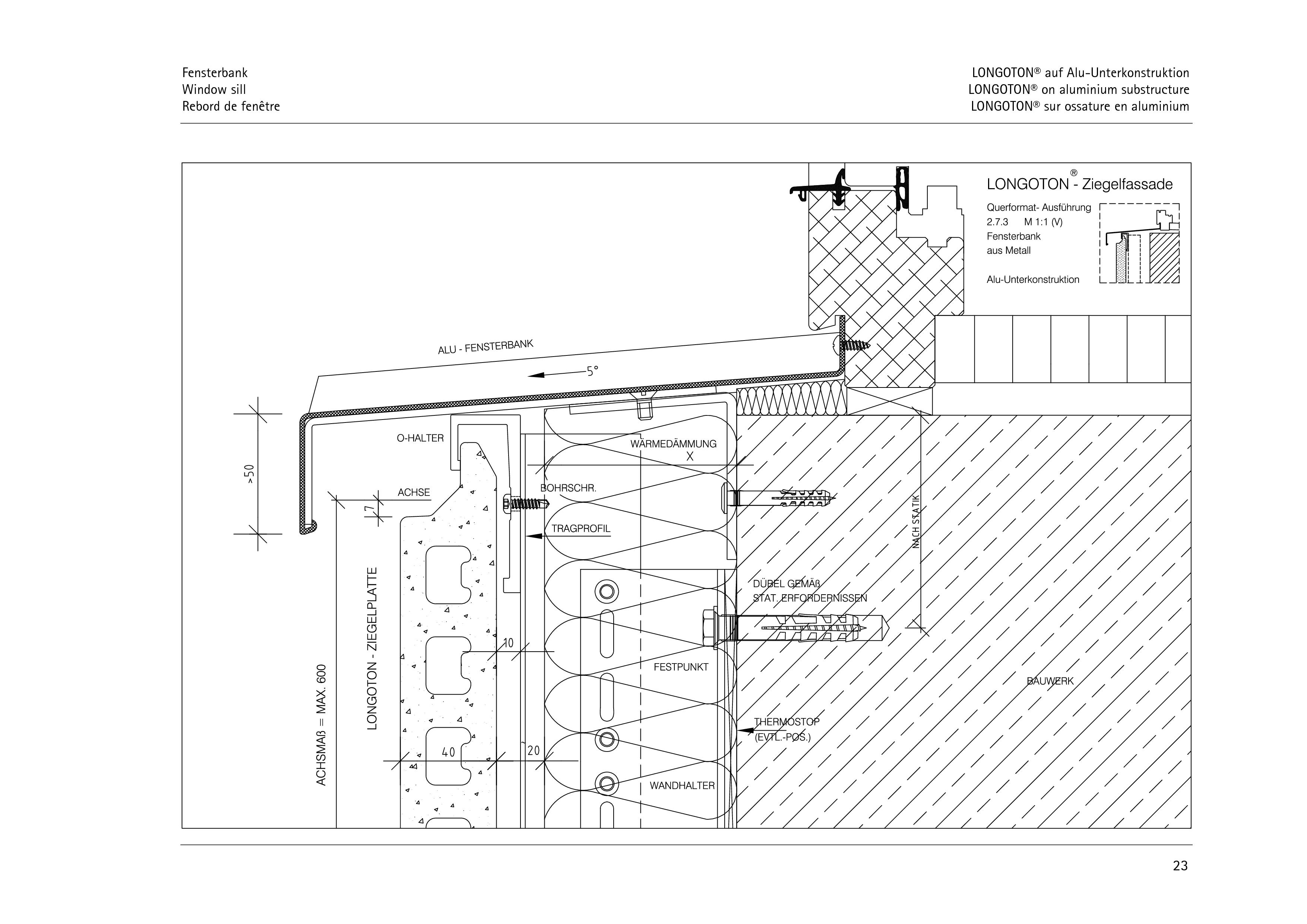 Pagina 23 - CAD-PDF Sisteme de placaje ceramice pentru fatada  ALPHATON Detaliu de montaj LONGOTON