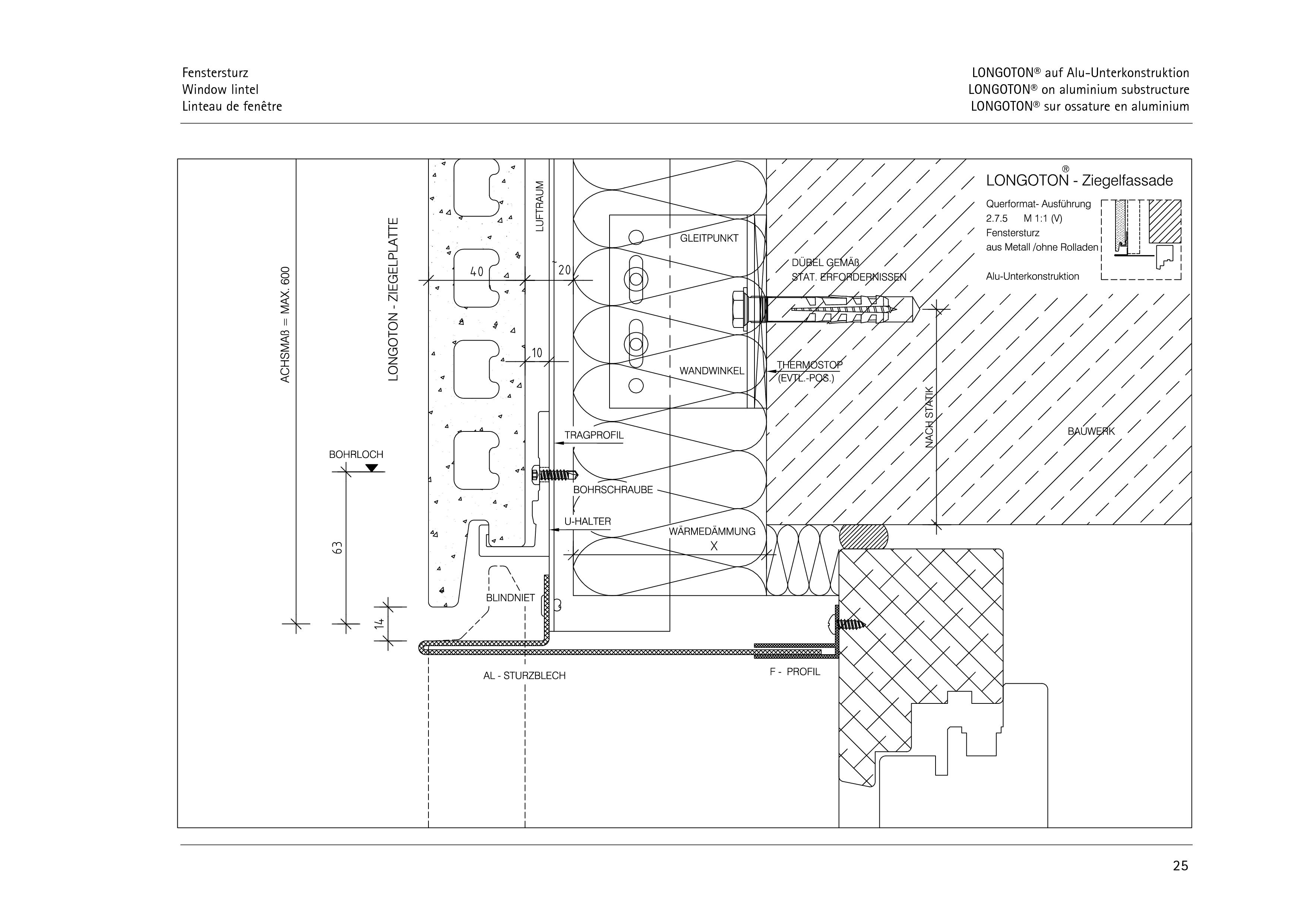 Pagina 25 - CAD-PDF Sisteme de placaje ceramice pentru fatada  ALPHATON Detaliu de montaj LONGOTON