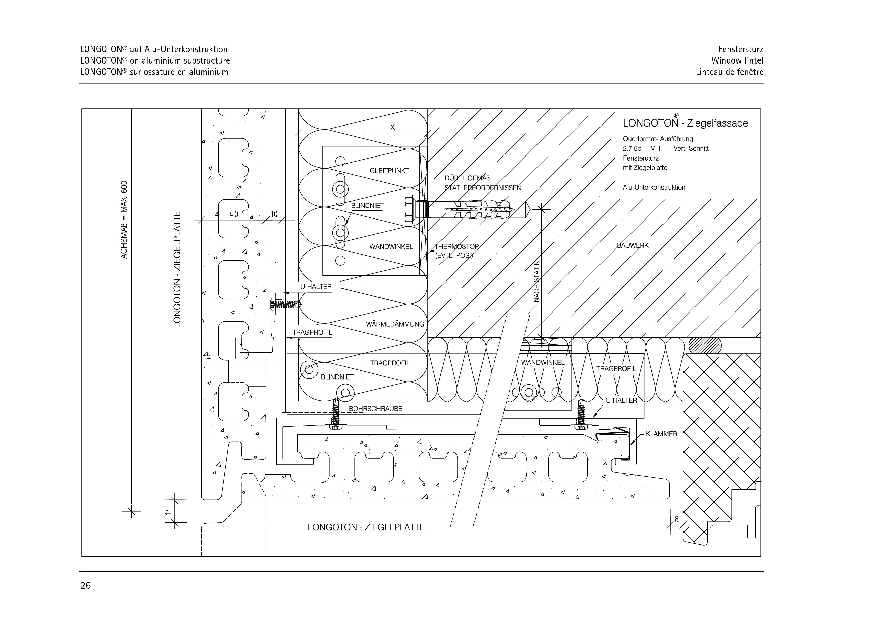 Pagina 26 - CAD-PDF Sisteme de placaje ceramice pentru fatada  ALPHATON Detaliu de montaj LONGOTON