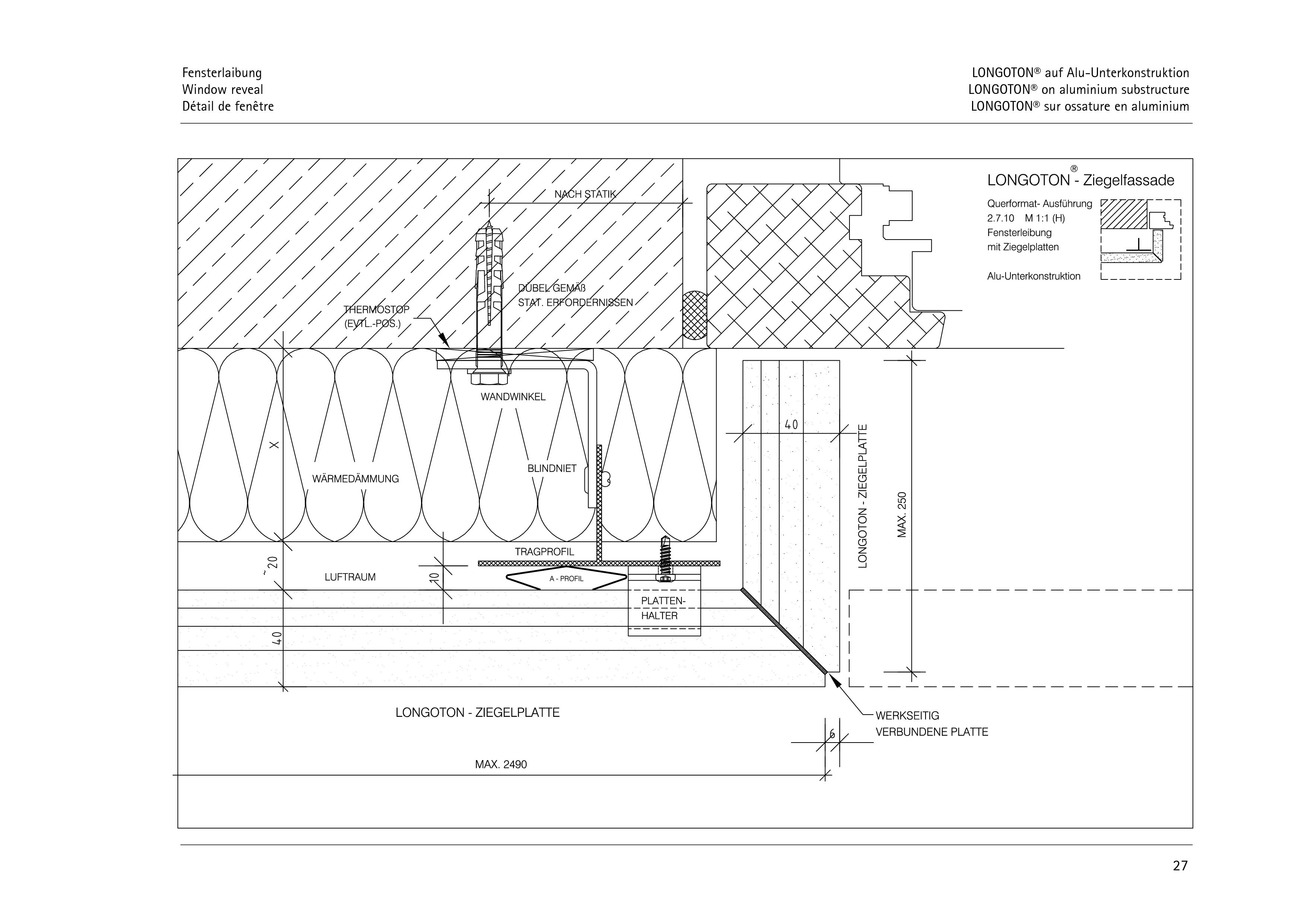 Pagina 27 - CAD-PDF Sisteme de placaje ceramice pentru fatada  ALPHATON Detaliu de montaj LONGOTON