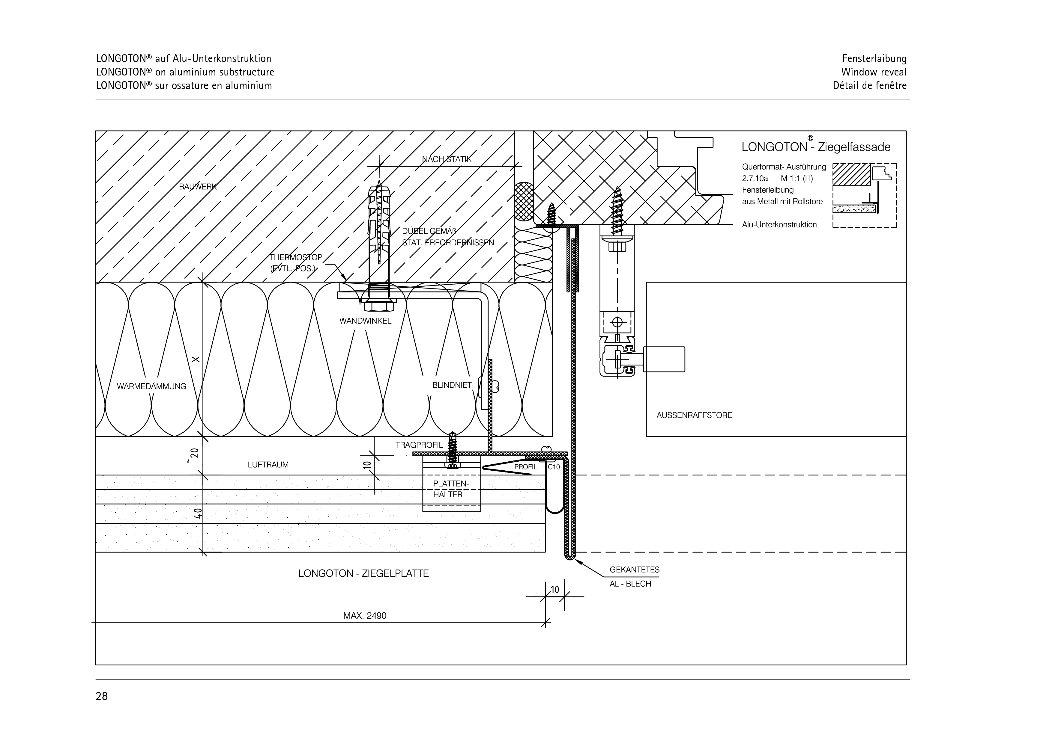 Pagina 28 - CAD-PDF Sisteme de placaje ceramice pentru fatada  ALPHATON Detaliu de montaj LONGOTON