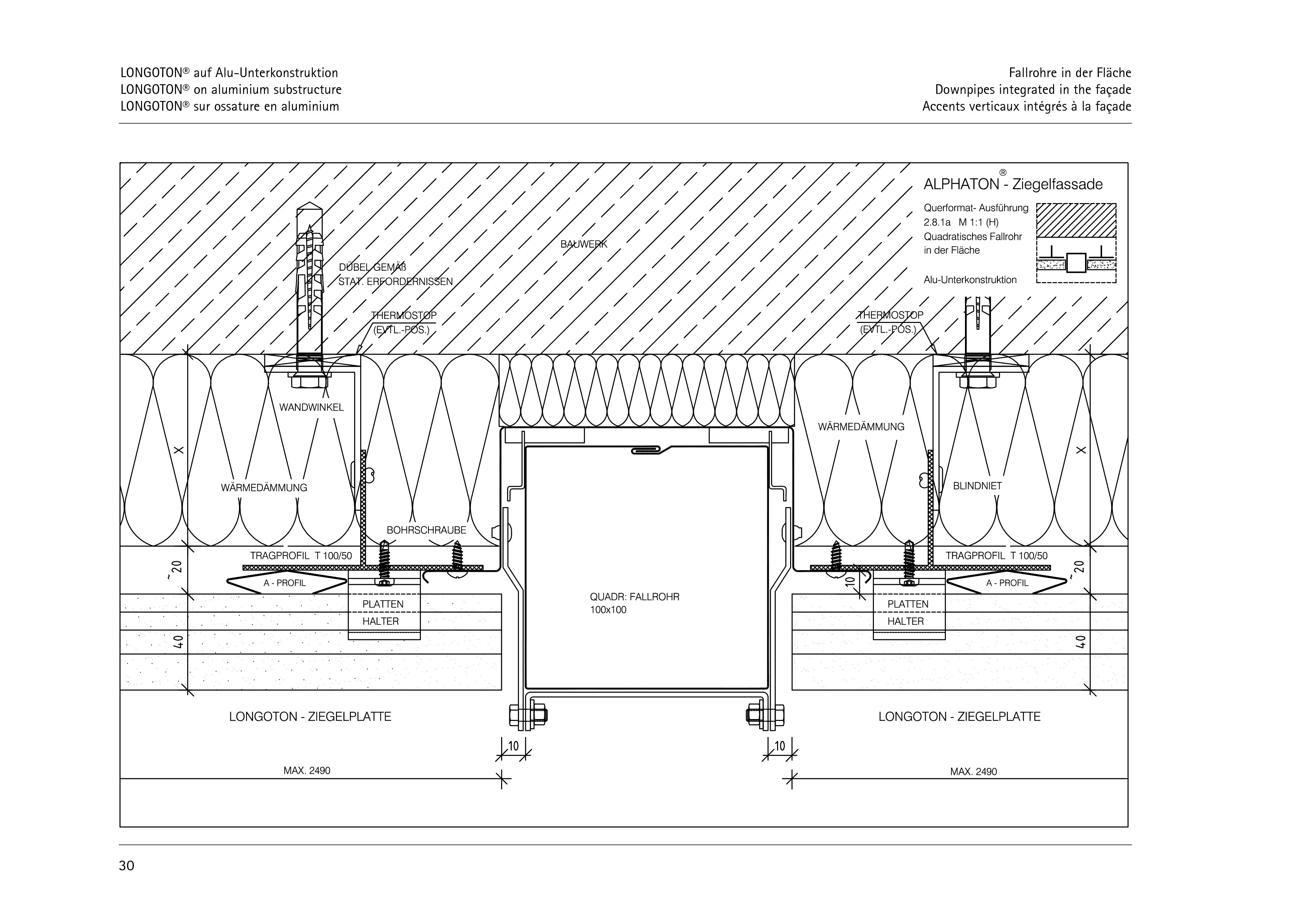 Pagina 30 - CAD-PDF Sisteme de placaje ceramice pentru fatada  ALPHATON Detaliu de montaj LONGOTON