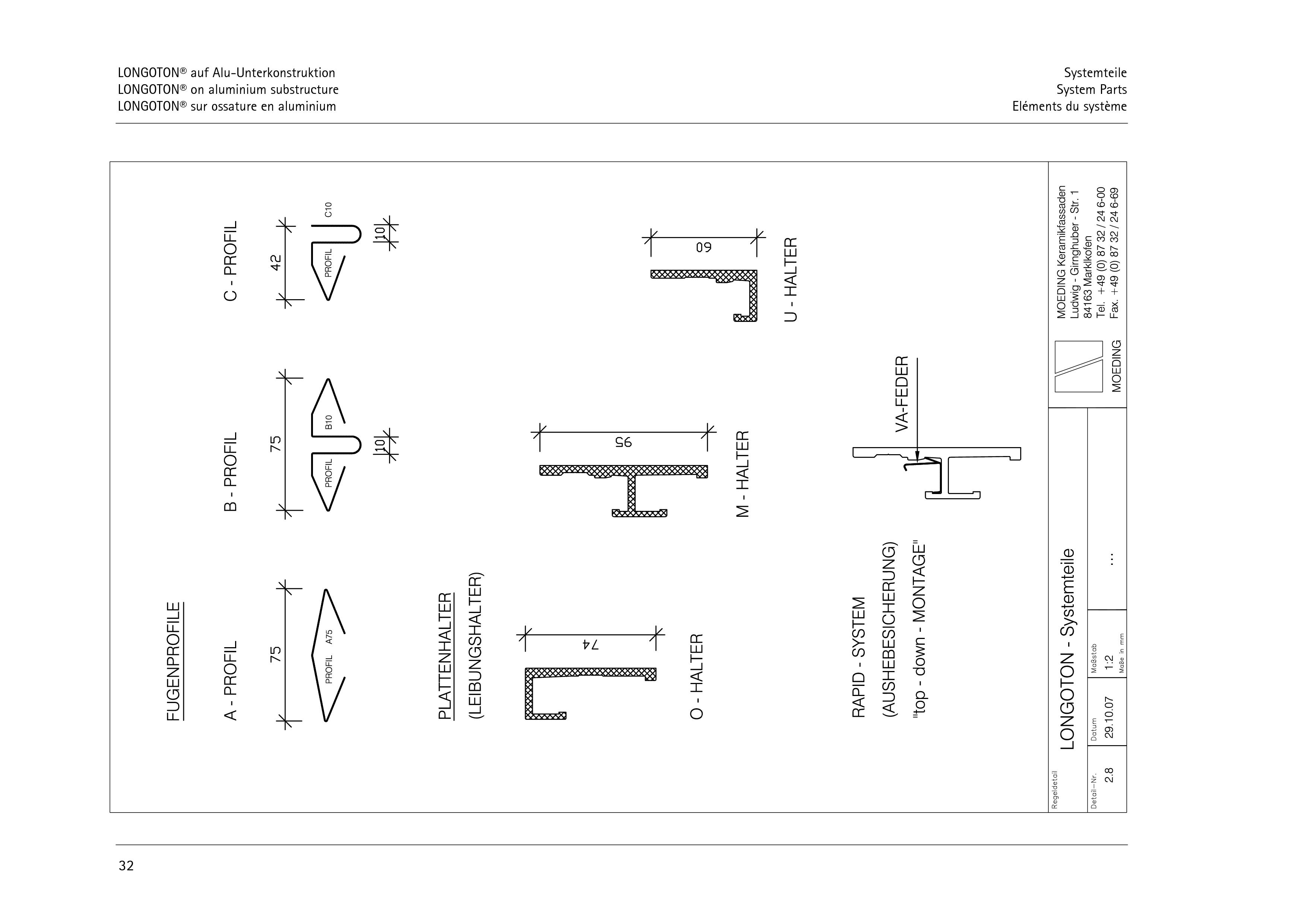 Pagina 32 - CAD-PDF Sisteme de placaje ceramice pentru fatada  ALPHATON Detaliu de montaj LONGOTON