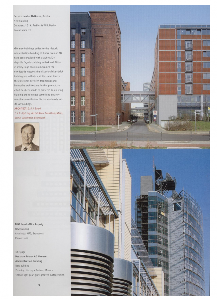 Pagina 1 - Sisteme de placaje ceramice pentru fatada ALPHATON ALPHATON Lucrari, proiecte Engleza...