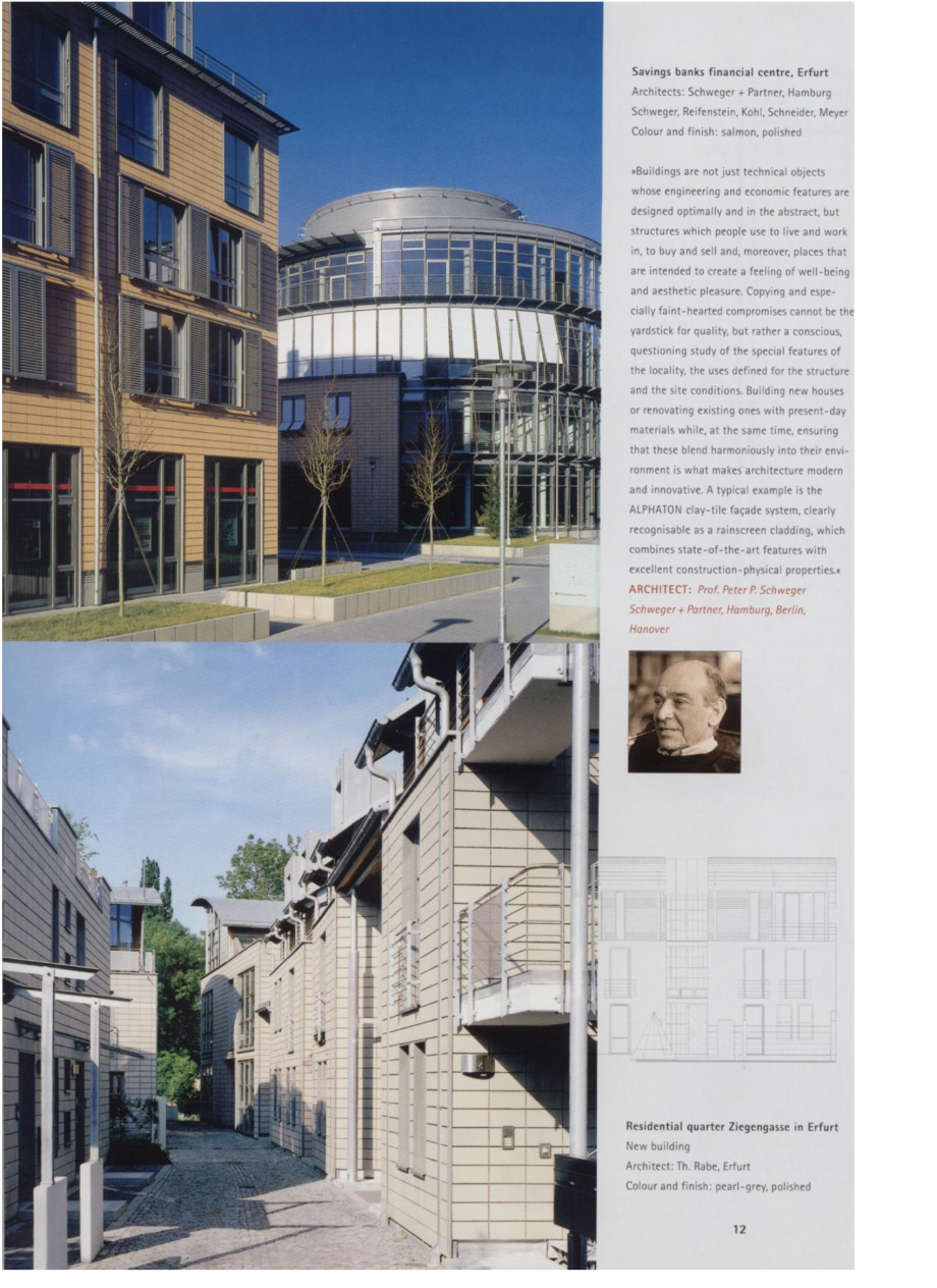 Pagina 6 - Sisteme de placaje ceramice pentru fatada ALPHATON ALPHATON Lucrari, proiecte Engleza