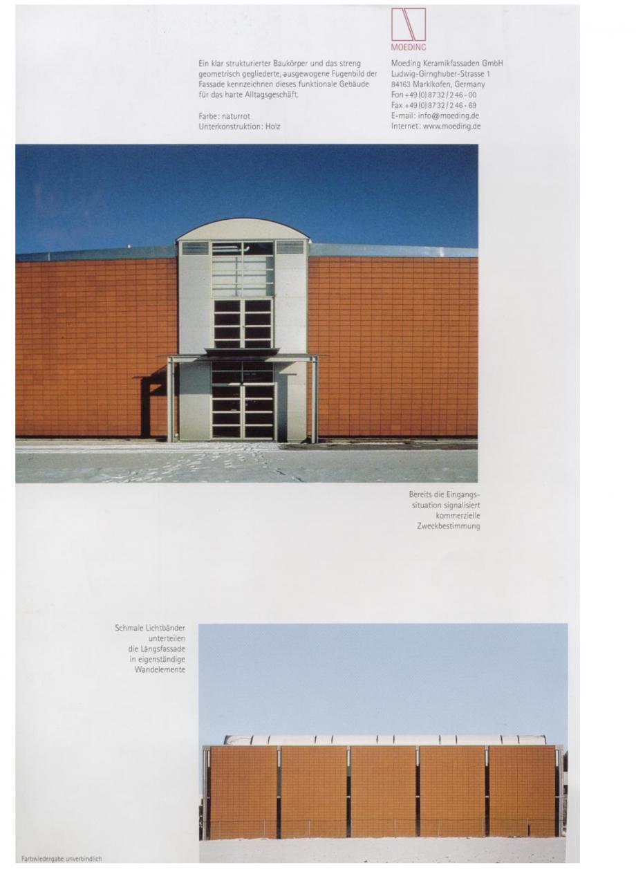 Pagina 14 - Sisteme de placaje ceramice pentru fatada ALPHATON ALPHATON Lucrari, proiecte Engleza