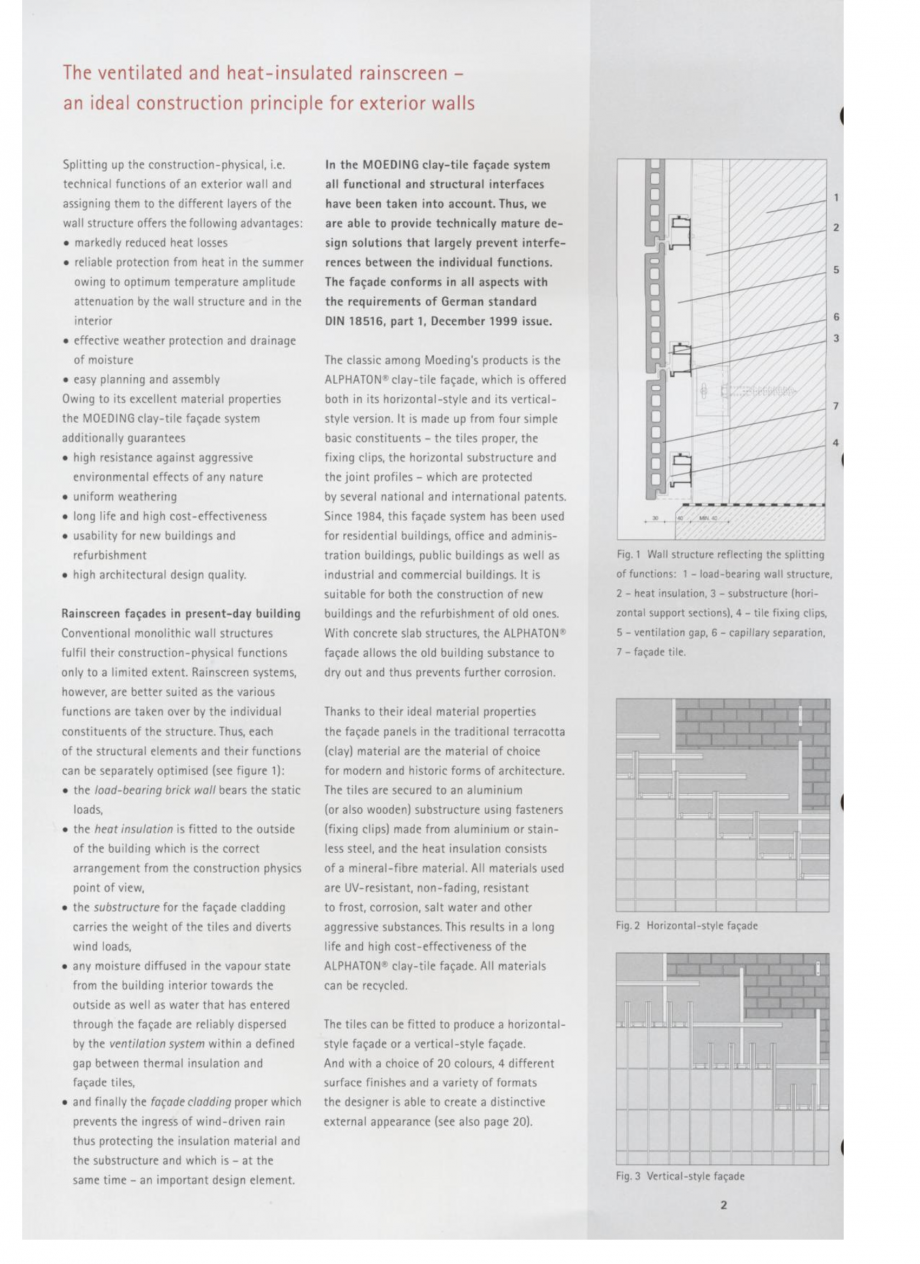 Pagina 2 - Fisa tehnica Sisteme de placaje ceramice pentru fatada ALPHATON ALPHATON Placi ceramice,...