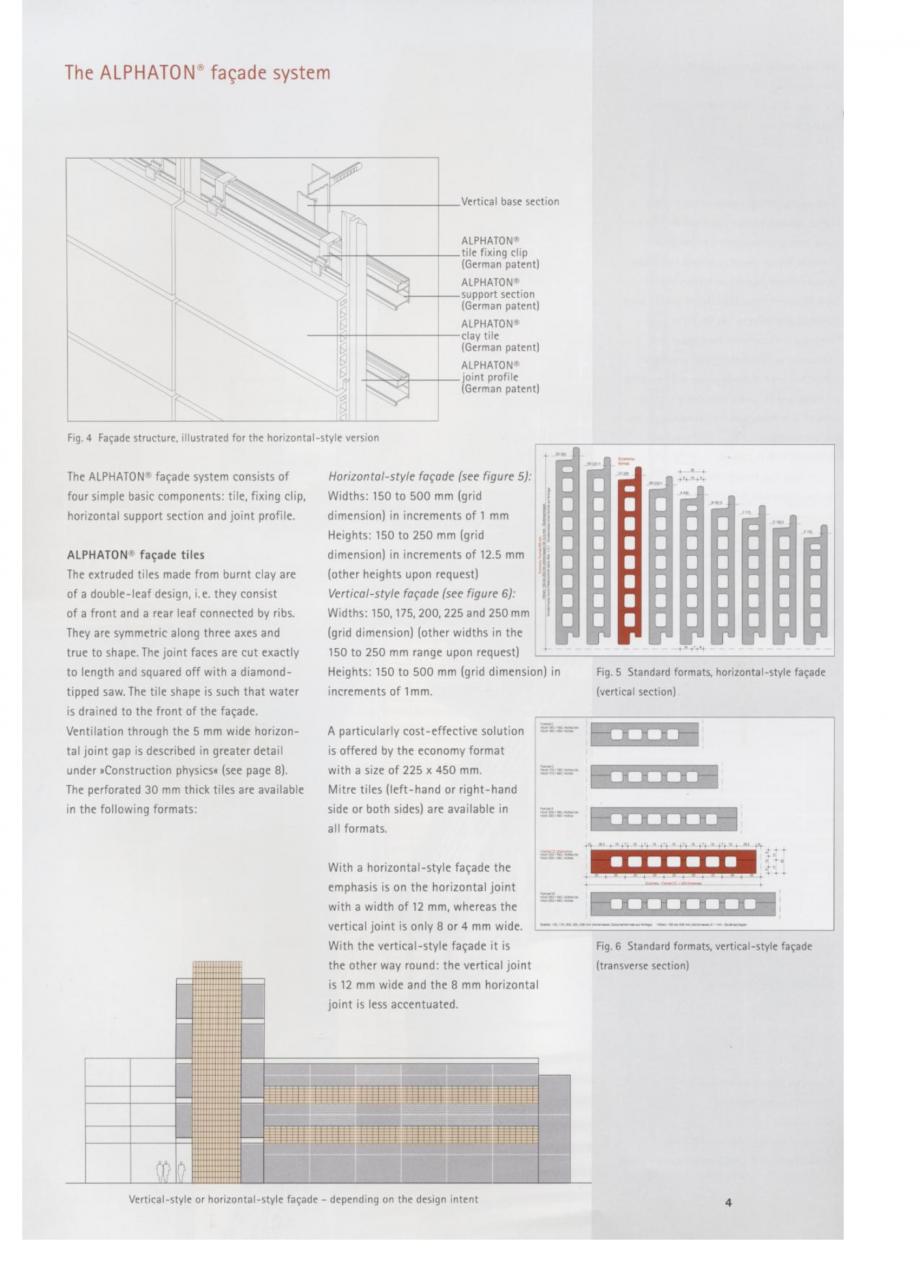 Pagina 3 - Fisa tehnica Sisteme de placaje ceramice pentru fatada ALPHATON ALPHATON Placi ceramice,...