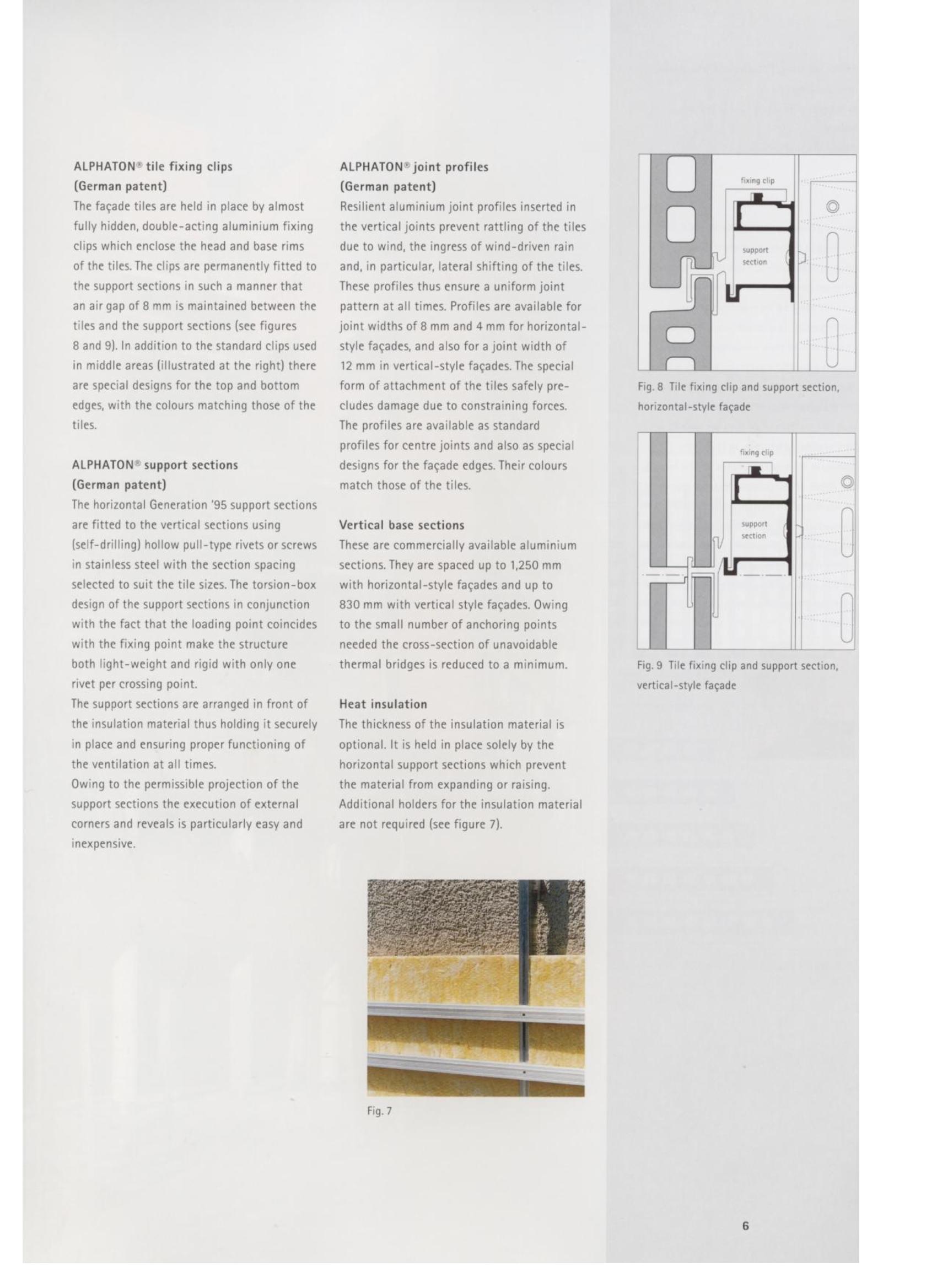 Fisa tehnica Sisteme de placaje ceramice pentru fatada ALPHATON ALPHATON Placi ceramice, teracota pentru placaje uscate exterioare GIBB TECHNOLOGIES  - Pagina 4