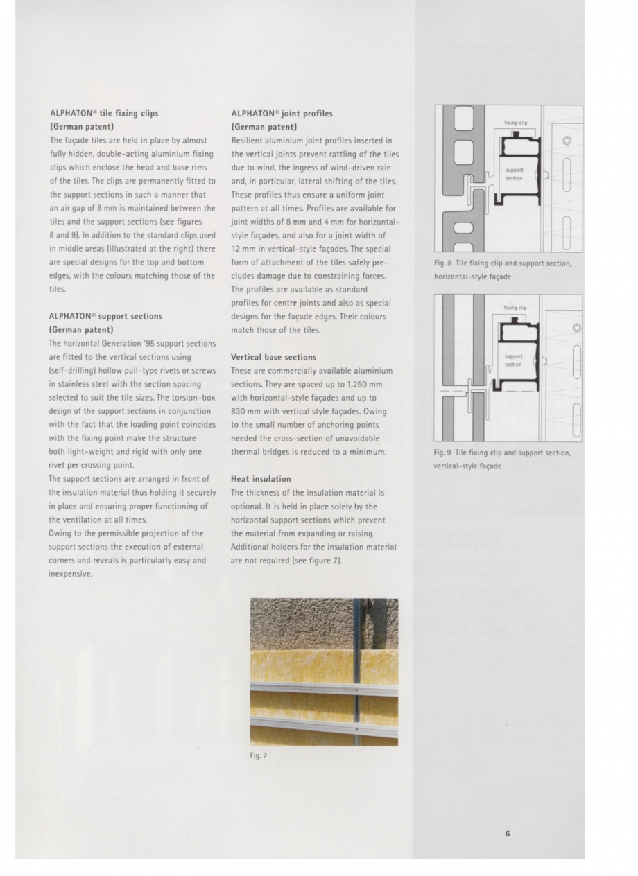Pagina 4 - Fisa tehnica Sisteme de placaje ceramice pentru fatada ALPHATON ALPHATON Placi ceramice,...