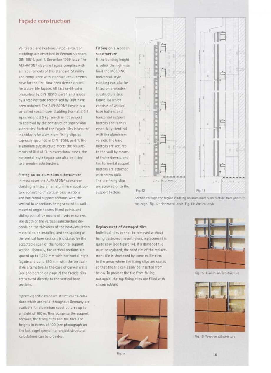 Pagina 6 - Fisa tehnica Sisteme de placaje ceramice pentru fatada ALPHATON ALPHATON Placi ceramice,...