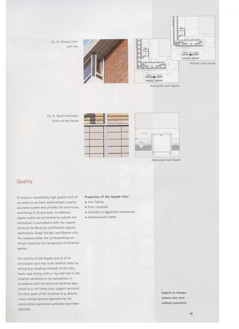 Pagina 9 - Fisa tehnica Sisteme de placaje ceramice pentru fatada ALPHATON ALPHATON Placi ceramice,...