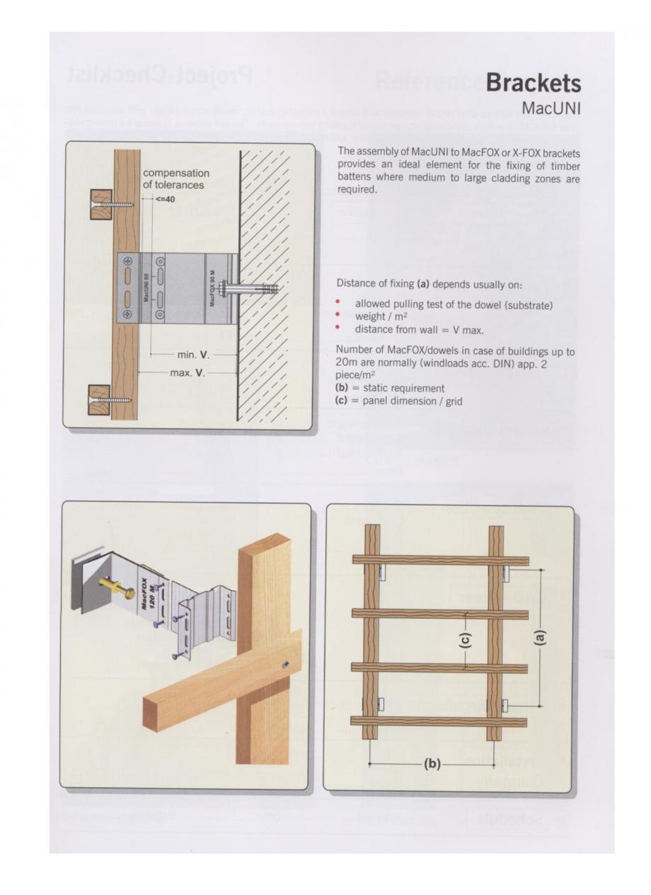 Pagina 1 - Sisteme de fixare din aluminiu pentru placaje uscate exterioare EUROFOX MacUNI Catalog, ...