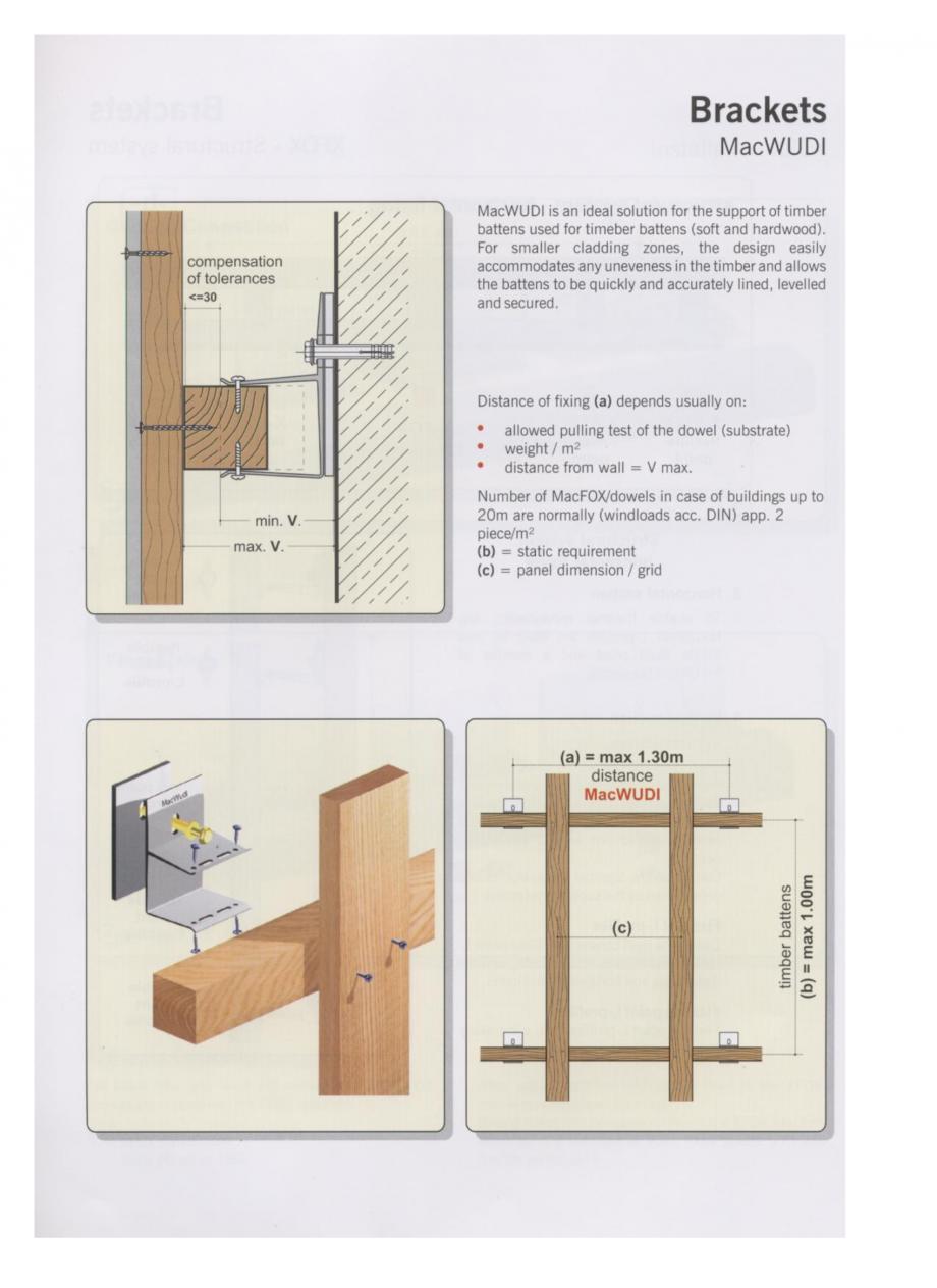 Catalog, brosura Sisteme de fixare din aluminiu pentru placaje uscate exterioare MacWUDI EUROFOX Sisteme de fixare din aluminiu pentru placaje uscate exterioare GIBB TECHNOLOGIES  - Pagina 1