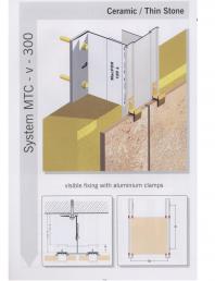 Sisteme de fixare pentru fatade ventilate cu placaj ceramic