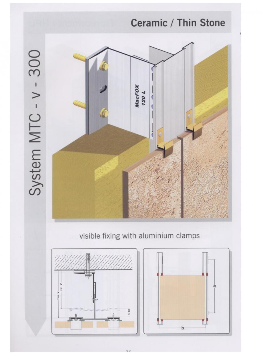Fisa tehnica Sisteme de fixare pentru fatade ventilate cu placaj ceramic MacFOX EUROFOX Sisteme de fixare din aluminiu pentru placaje uscate exterioare GIBB TECHNOLOGIES  - Pagina 1