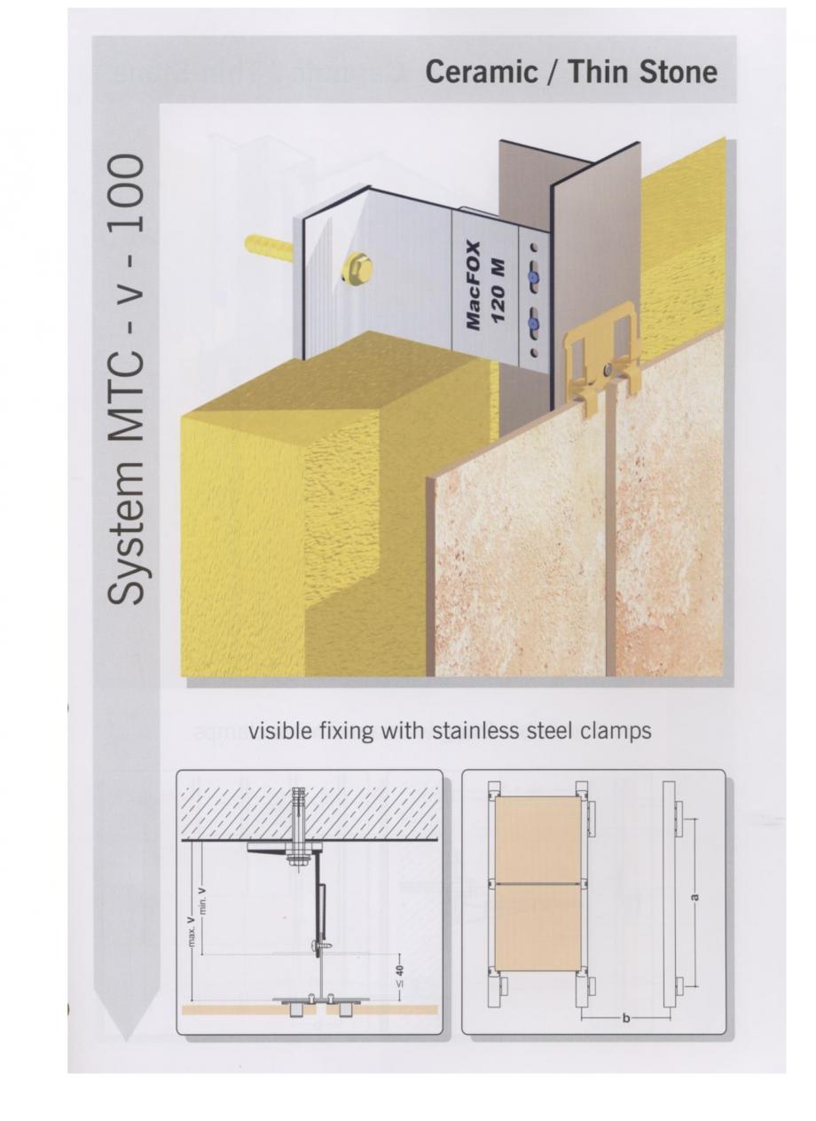 Fisa tehnica Sisteme de fixare pentru fatade ventilate cu placaj ceramic MacFOX EUROFOX Sisteme de fixare din aluminiu pentru placaje uscate exterioare GIBB TECHNOLOGIES  - Pagina 2