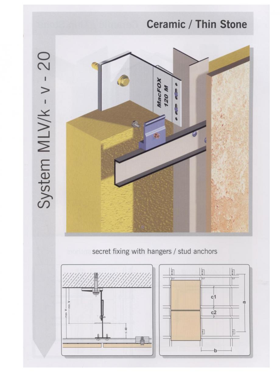 Fisa tehnica Sisteme de fixare pentru fatade ventilate cu placaj ceramic MacFOX EUROFOX Sisteme de fixare din aluminiu pentru placaje uscate exterioare GIBB TECHNOLOGIES  - Pagina 4