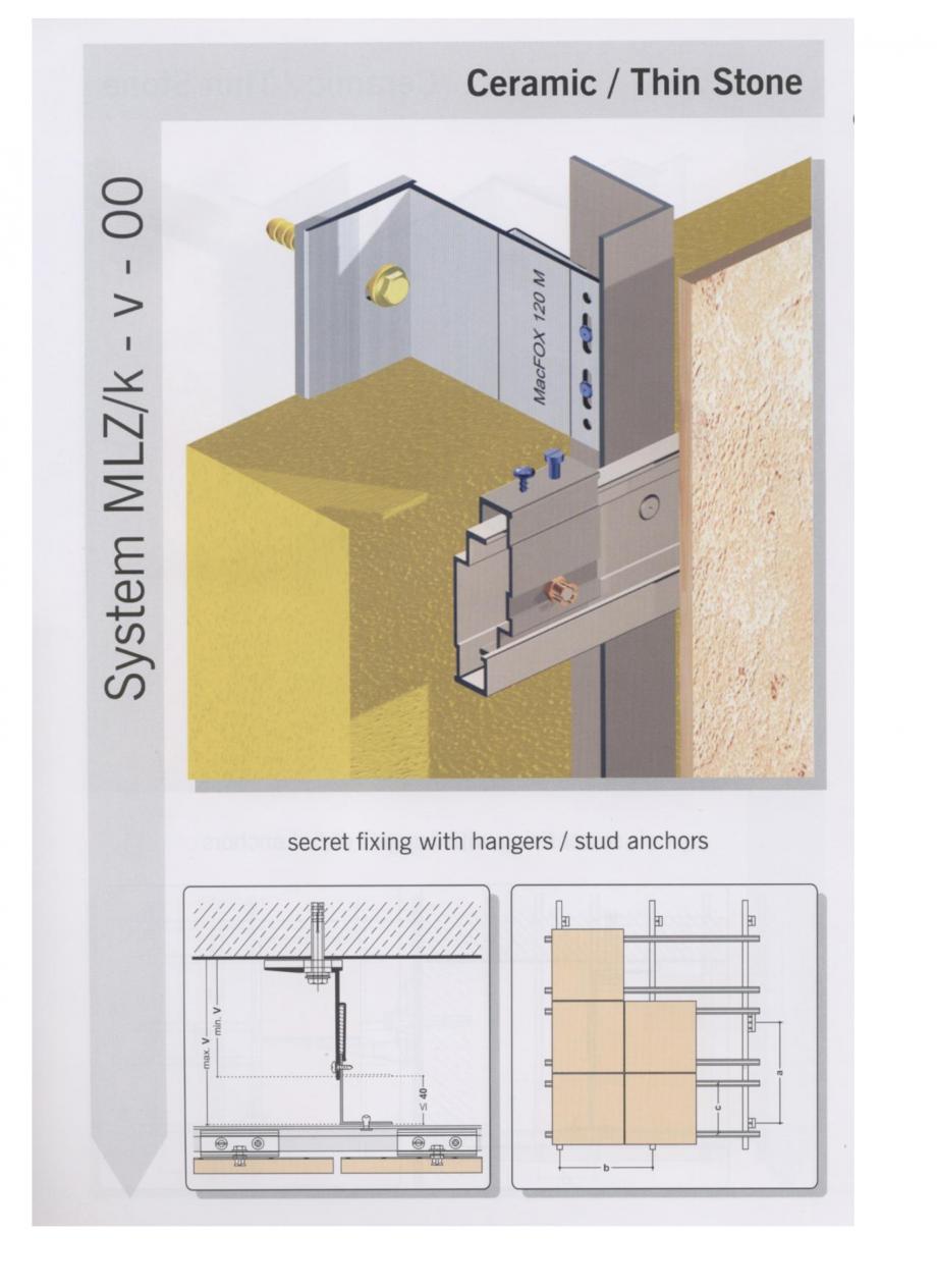 Fisa tehnica Sisteme de fixare pentru fatade ventilate cu placaj ceramic MacFOX EUROFOX Sisteme de fixare din aluminiu pentru placaje uscate exterioare GIBB TECHNOLOGIES  - Pagina 5
