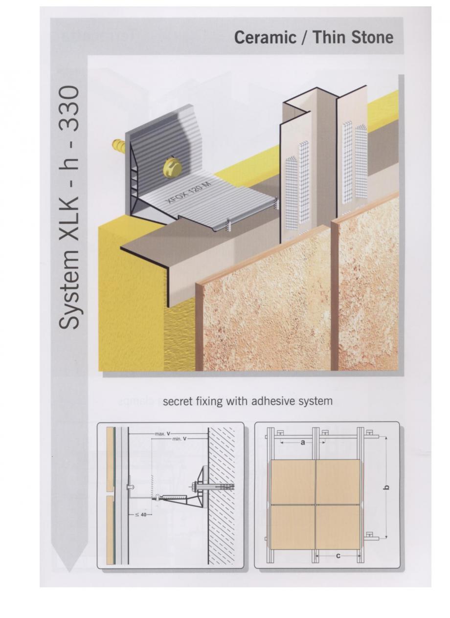 Fisa tehnica Sisteme de fixare pentru fatade ventilate cu placaj ceramic MacFOX EUROFOX Sisteme de fixare din aluminiu pentru placaje uscate exterioare GIBB TECHNOLOGIES  - Pagina 7