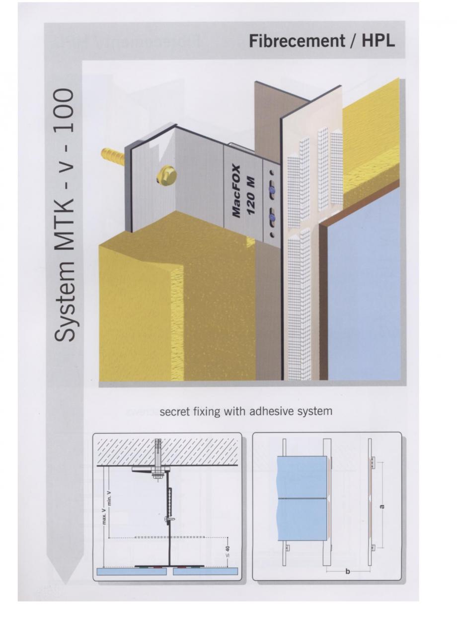 Fisa tehnica Sisteme de fixare pentru fatade ventilate cu placaj din beton armat cu fibra de sticla si cu placaj HPL MacFOX EUROFOX Sisteme de fixare din aluminiu pentru placaje uscate exterioare GIBB TECHNOLOGIES  - Pagina 3