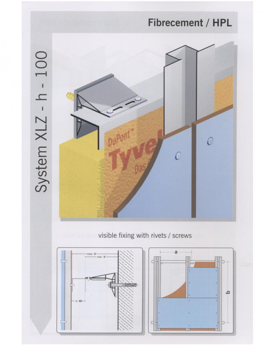 Fisa tehnica Sisteme de fixare pentru fatade ventilate cu placaj din beton armat cu fibra de sticla si cu placaj HPL MacFOX EUROFOX Sisteme de fixare din aluminiu pentru placaje uscate exterioare GIBB TECHNOLOGIES  - Pagina 4