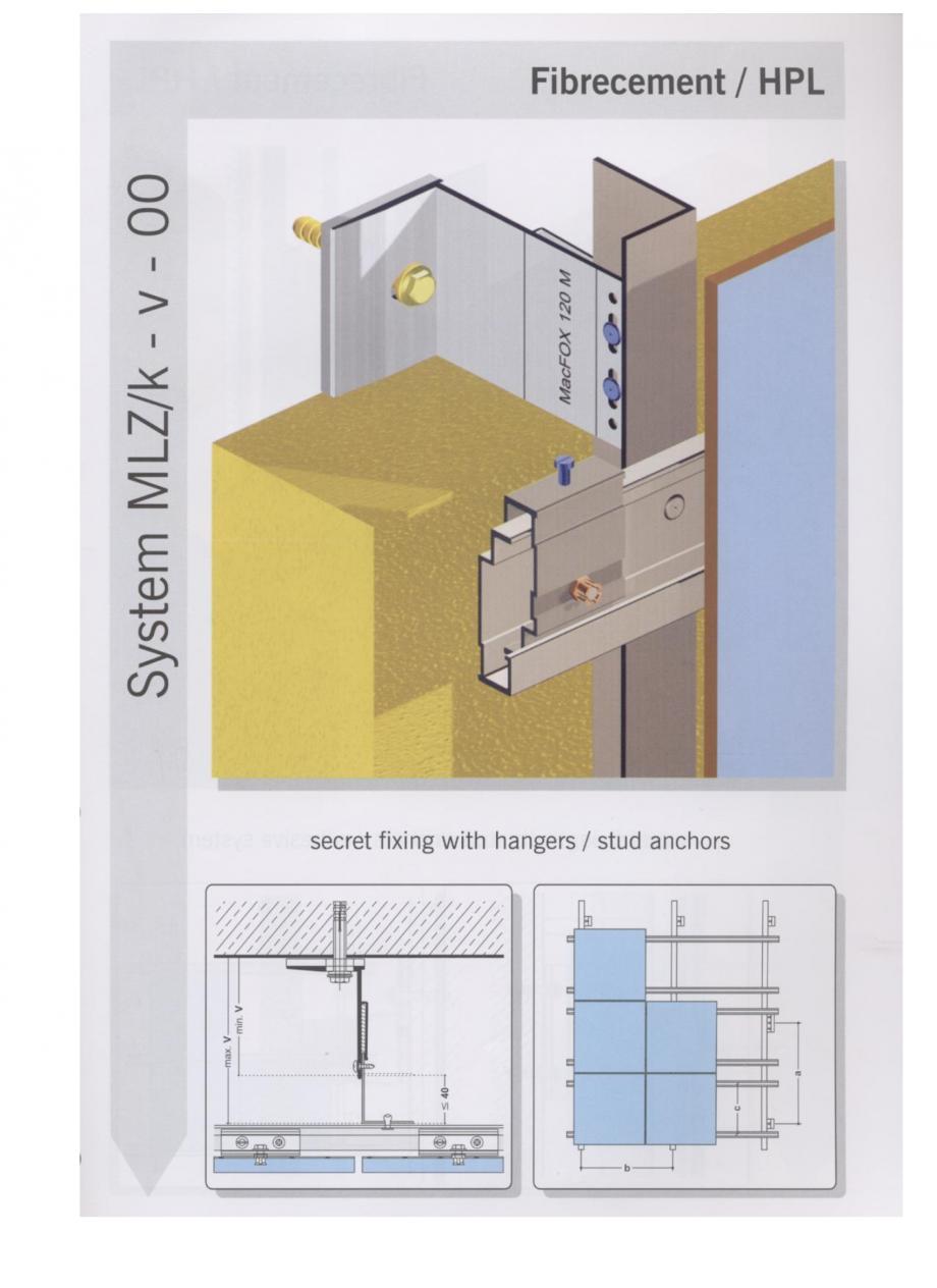Fisa tehnica Sisteme de fixare pentru fatade ventilate cu placaj din beton armat cu fibra de sticla si cu placaj HPL MacFOX EUROFOX Sisteme de fixare din aluminiu pentru placaje uscate exterioare GIBB TECHNOLOGIES  - Pagina 6