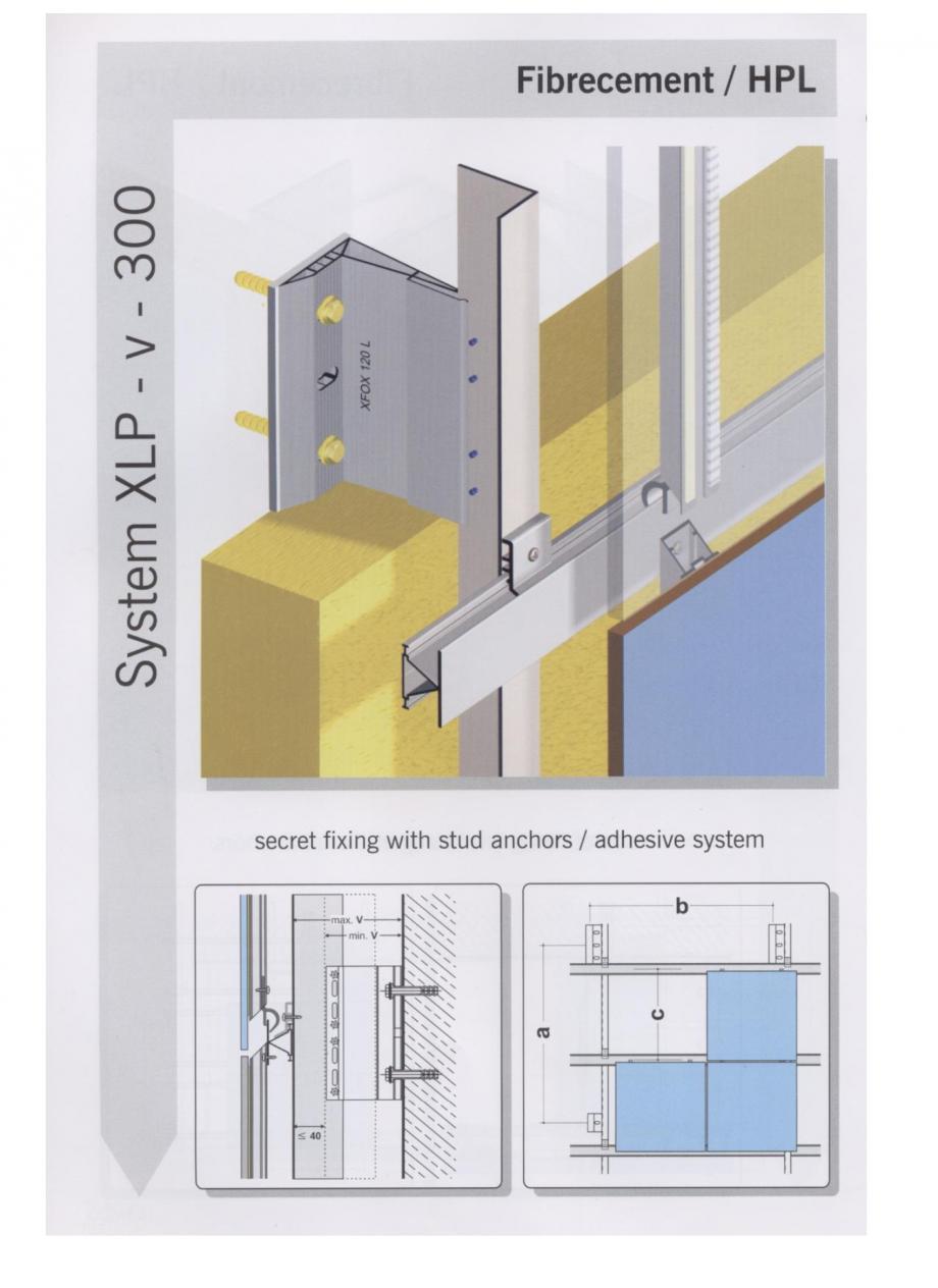 Fisa tehnica Sisteme de fixare pentru fatade ventilate cu placaj din beton armat cu fibra de sticla si cu placaj HPL MacFOX EUROFOX Sisteme de fixare din aluminiu pentru placaje uscate exterioare GIBB TECHNOLOGIES  - Pagina 7