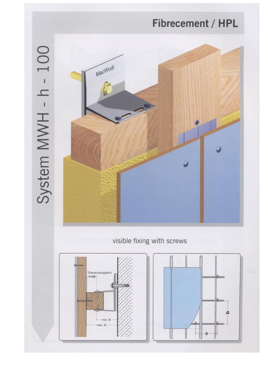 Fisa tehnica Sisteme de fixare pentru fatade ventilate cu placaj din beton armat cu fibra de sticla si cu placaj HPL MacFOX EUROFOX Sisteme de fixare din aluminiu pentru placaje uscate exterioare GIBB TECHNOLOGIES  - Pagina 8