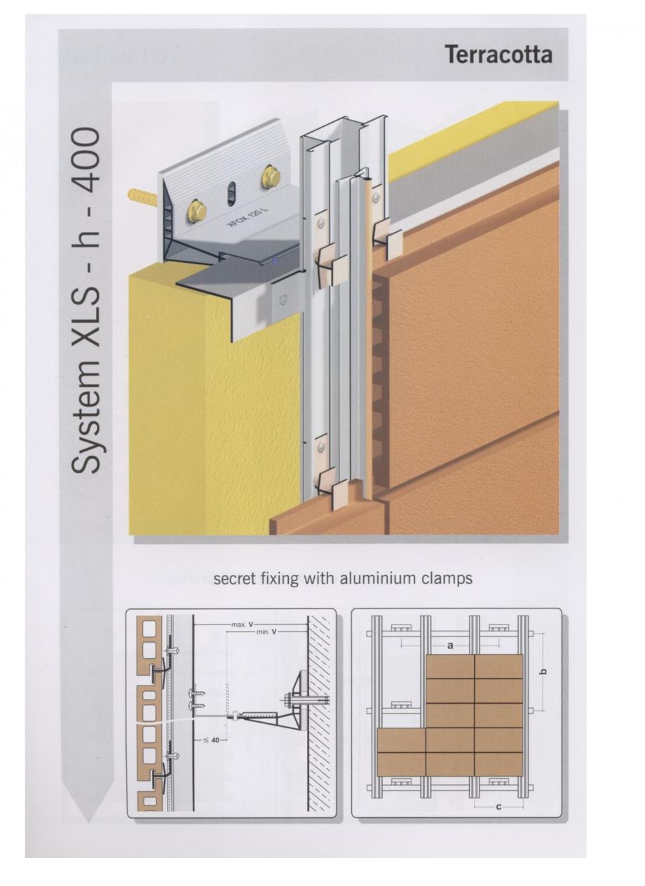 Fisa tehnica Sisteme de fixare pentru fatade ventilate cu placaj din caramida MacFOX EUROFOX Sisteme de fixare din aluminiu pentru placaje uscate exterioare GIBB TECHNOLOGIES  - Pagina 1