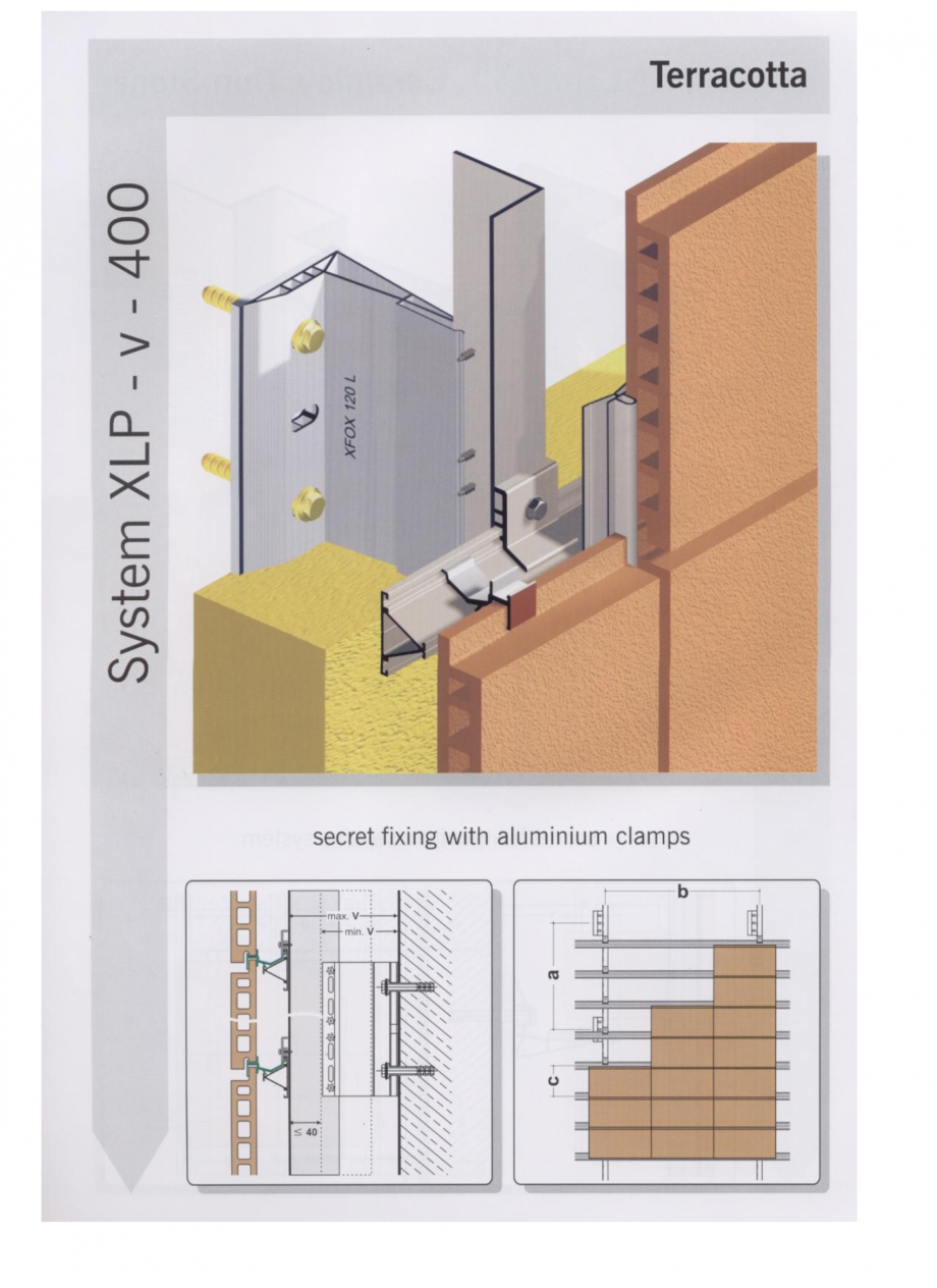 Fisa tehnica Sisteme de fixare pentru fatade ventilate cu placaj din caramida MacFOX EUROFOX Sisteme de fixare din aluminiu pentru placaje uscate exterioare GIBB TECHNOLOGIES  - Pagina 2