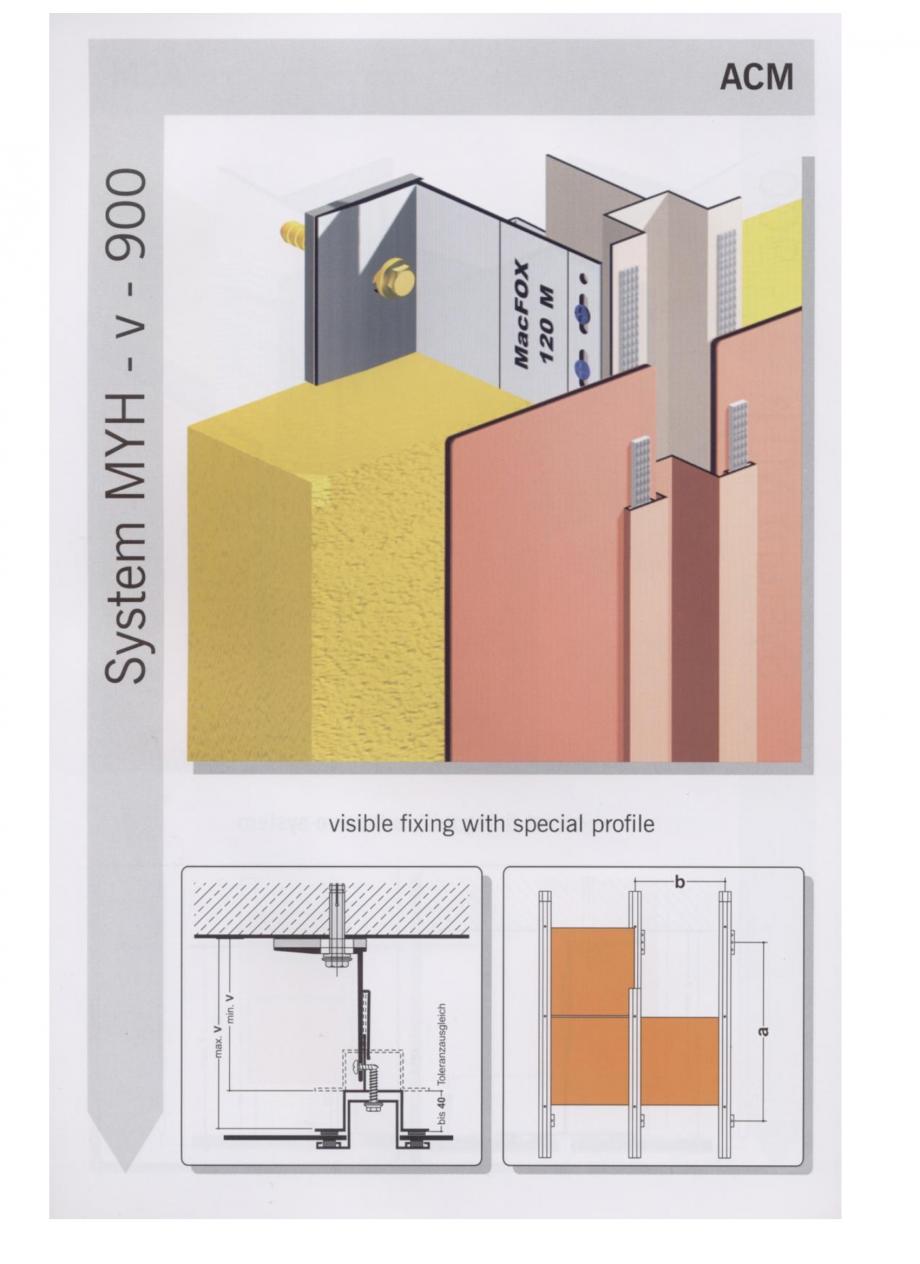 Fisa tehnica Sisteme de fixare pentru fatade ventilate cu placaj din panouri compozite MacFOX EUROFOX Sisteme de fixare din aluminiu pentru placaje uscate exterioare GIBB TECHNOLOGIES  - Pagina 1