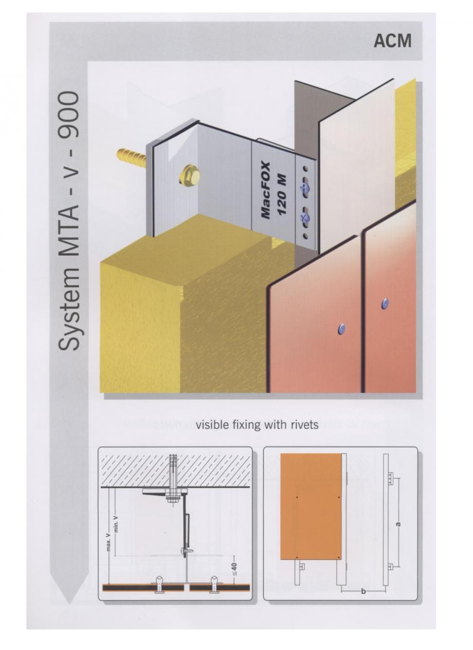Fisa tehnica Sisteme de fixare pentru fatade ventilate cu placaj din panouri compozite MacFOX EUROFOX Sisteme de fixare din aluminiu pentru placaje uscate exterioare GIBB TECHNOLOGIES  - Pagina 2