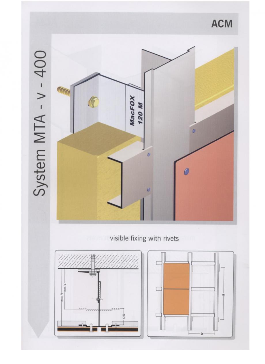 Fisa tehnica Sisteme de fixare pentru fatade ventilate cu placaj din panouri compozite MacFOX EUROFOX Sisteme de fixare din aluminiu pentru placaje uscate exterioare GIBB TECHNOLOGIES  - Pagina 5