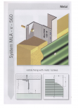 Sisteme de fixare pentru fatade ventilate cu placaj metalic EUROFOX - MacFOX