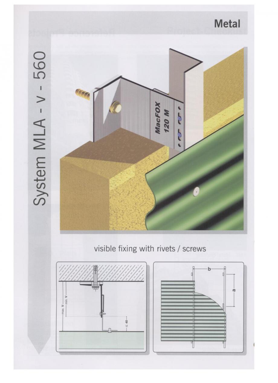 Pagina 1 - Sisteme de fixare pentru fatade ventilate cu placaj metalic EUROFOX MacFOX Fisa tehnica ...