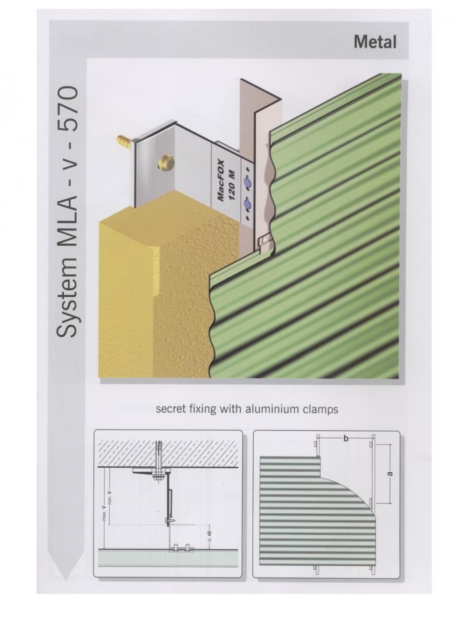 Pagina 2 - Sisteme de fixare pentru fatade ventilate cu placaj metalic EUROFOX MacFOX Fisa tehnica ...