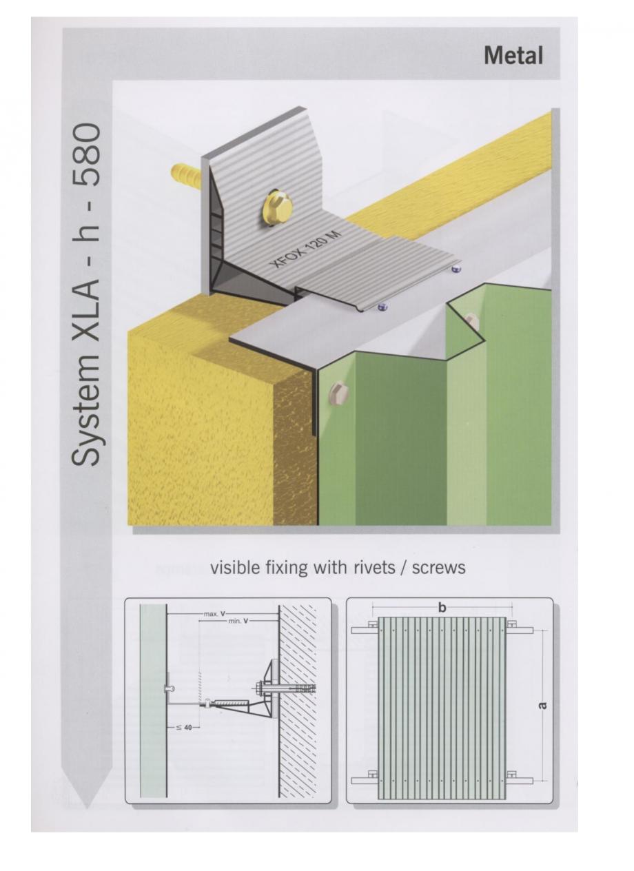 Pagina 3 - Sisteme de fixare pentru fatade ventilate cu placaj metalic EUROFOX MacFOX Fisa tehnica ...