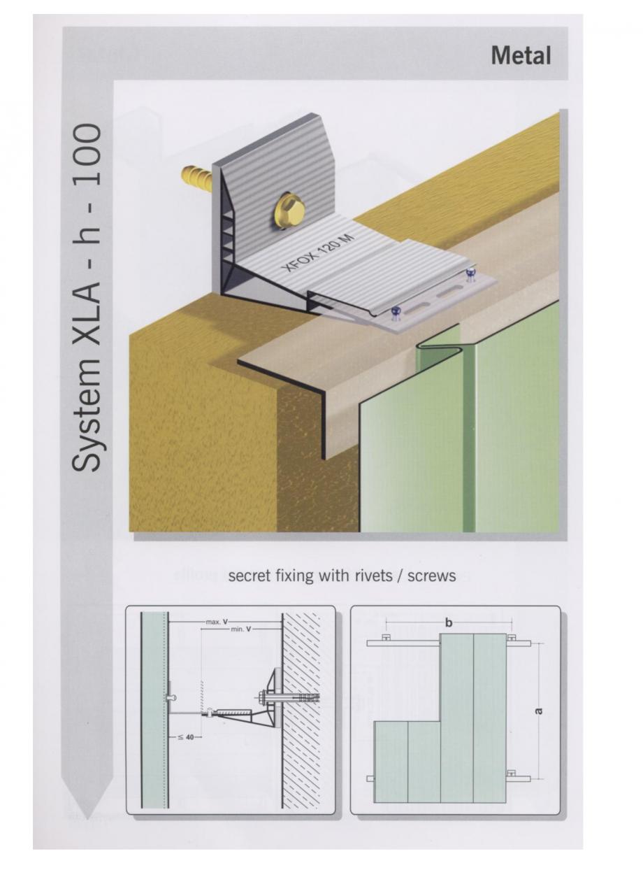 Pagina 4 - Sisteme de fixare pentru fatade ventilate cu placaj metalic EUROFOX MacFOX Fisa tehnica ...