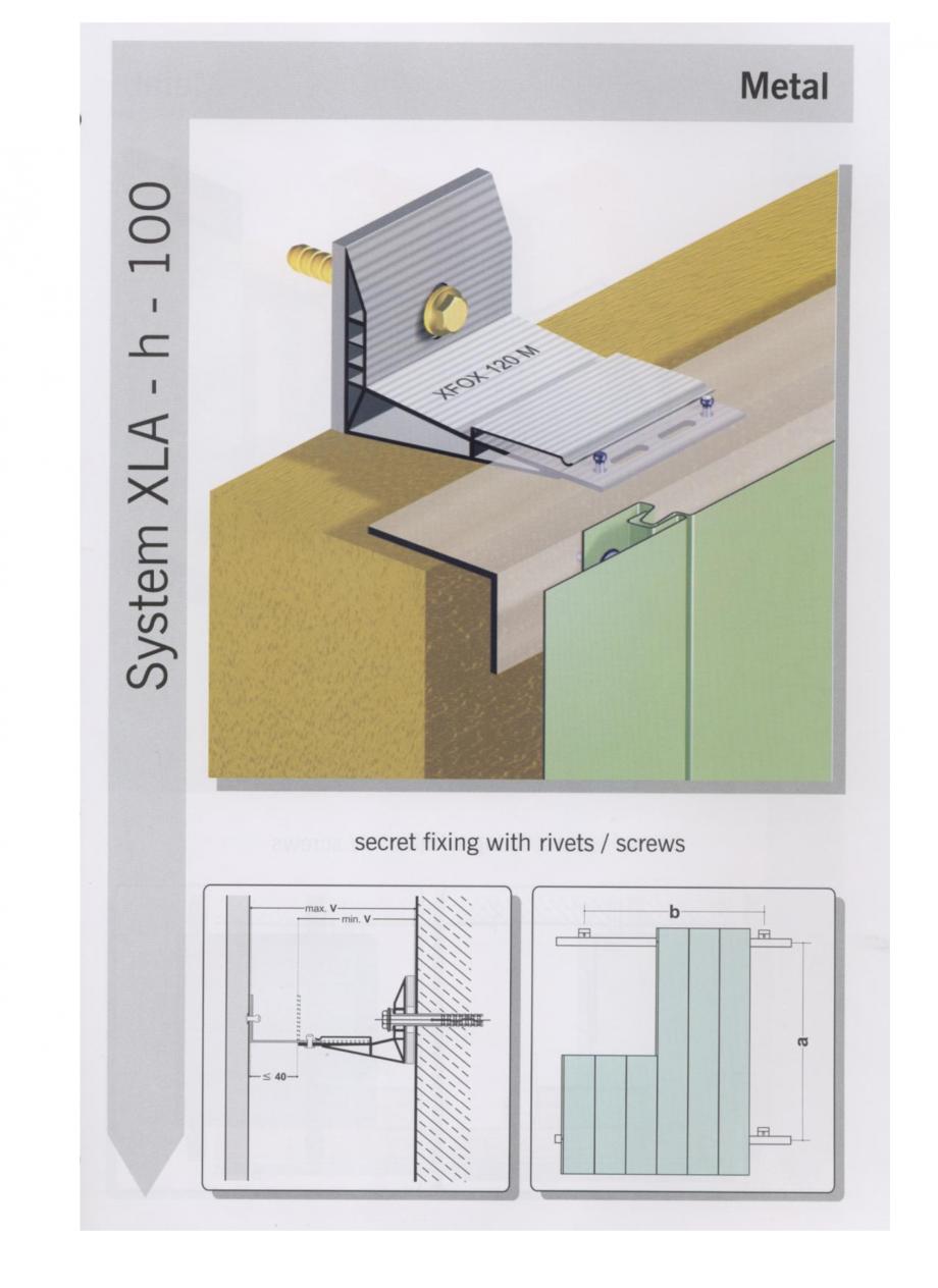 Pagina 5 - Sisteme de fixare pentru fatade ventilate cu placaj metalic EUROFOX MacFOX Fisa tehnica ...