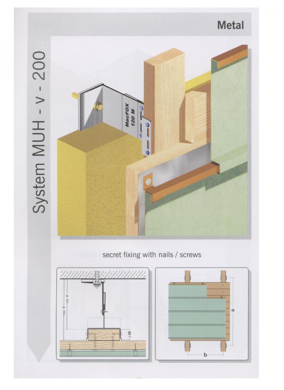 Pagina 6 - Sisteme de fixare pentru fatade ventilate cu placaj metalic EUROFOX MacFOX Fisa tehnica ...