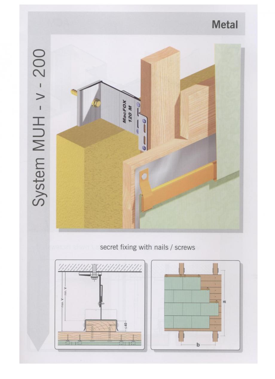 Pagina 7 - Sisteme de fixare pentru fatade ventilate cu placaj metalic EUROFOX MacFOX Fisa tehnica ...