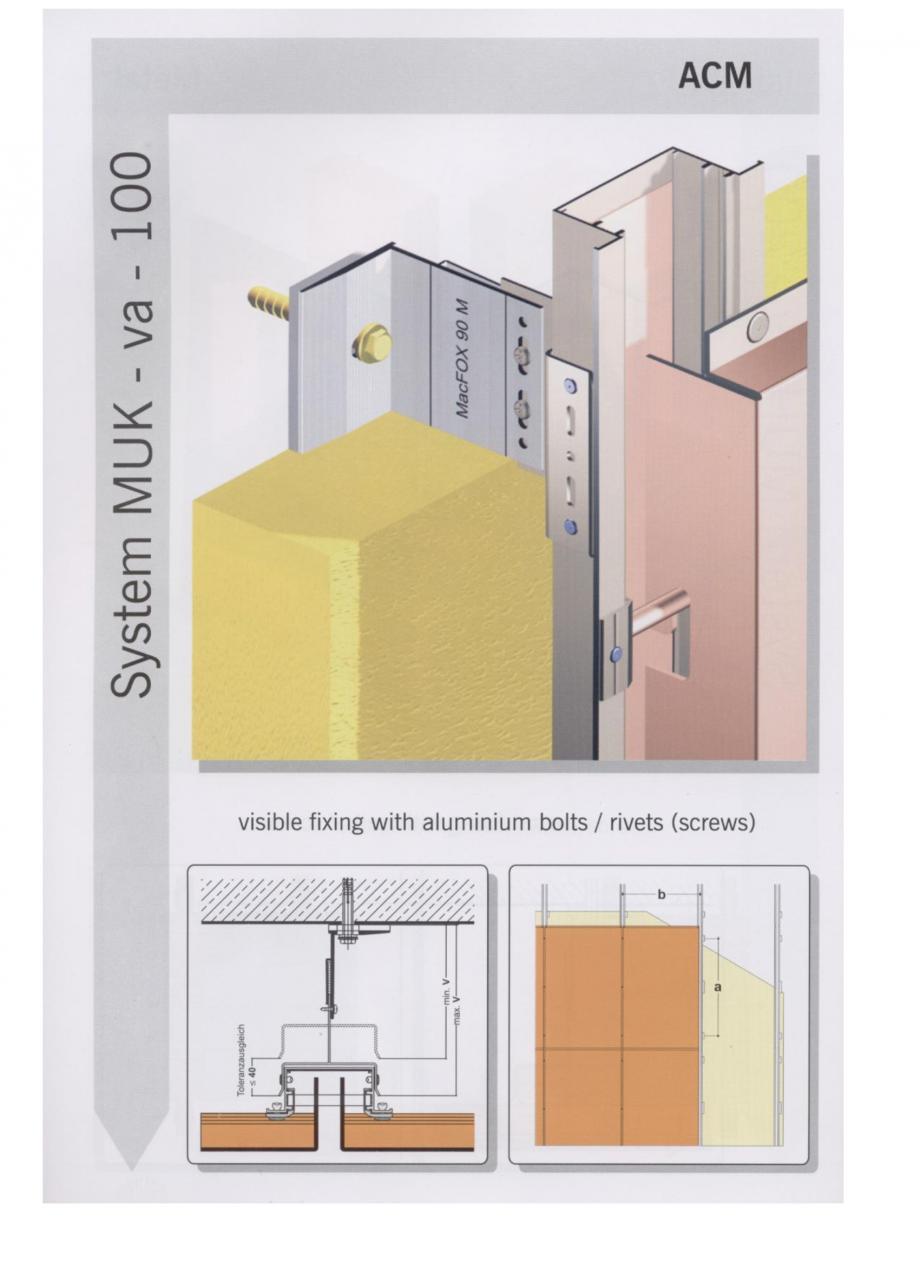 Pagina 8 - Sisteme de fixare pentru fatade ventilate cu placaj metalic EUROFOX MacFOX Fisa tehnica ...