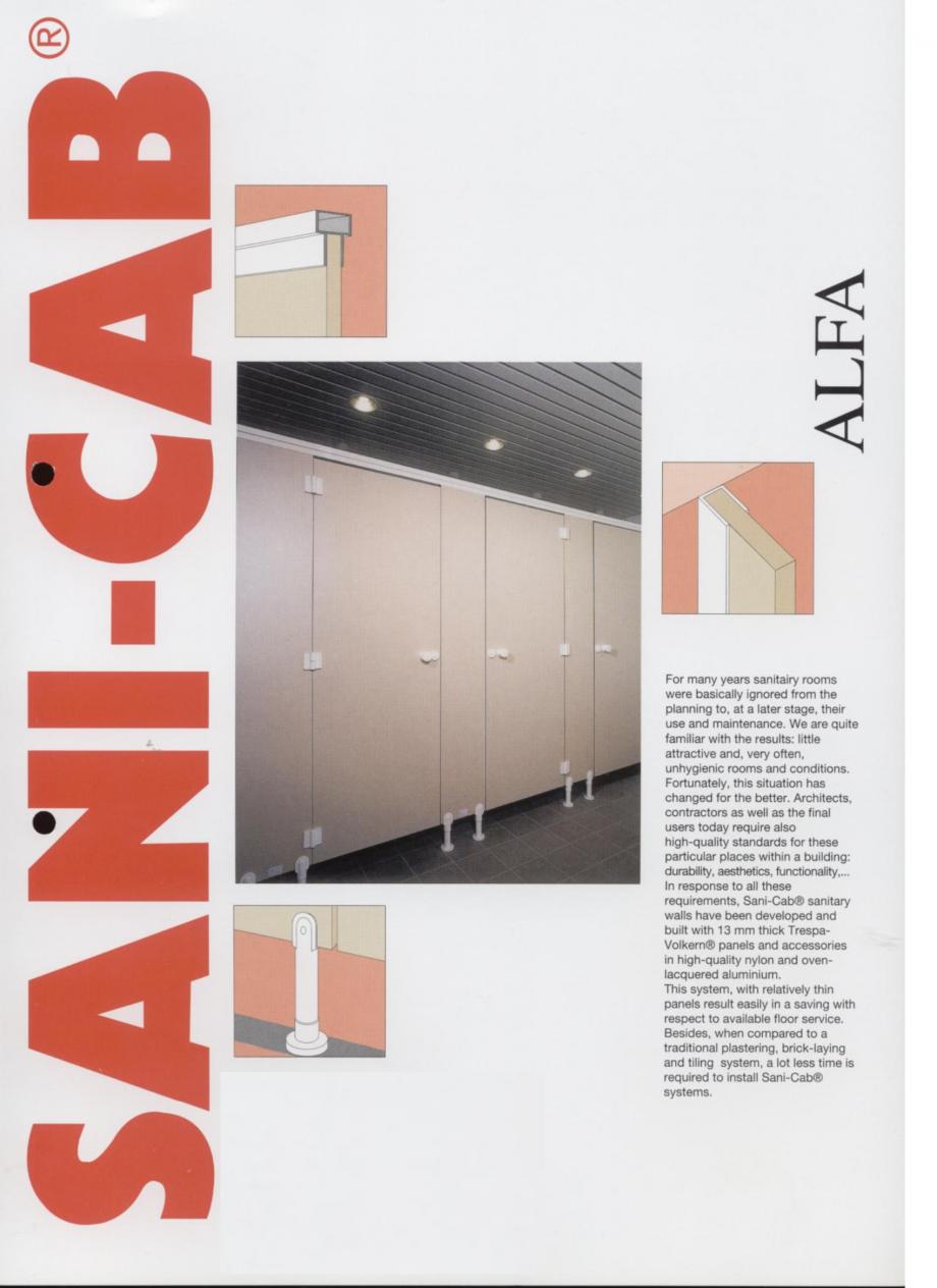 Pagina 1 - Cabine sanitare SANI-CAB ALFA Catalog, brosura Engleza