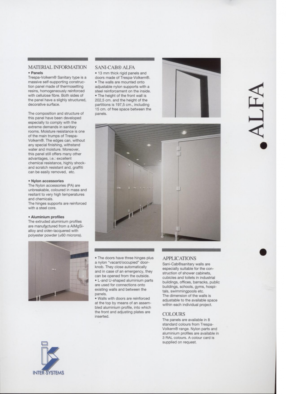 Pagina 2 - Cabine sanitare SANI-CAB ALFA Catalog, brosura Engleza
